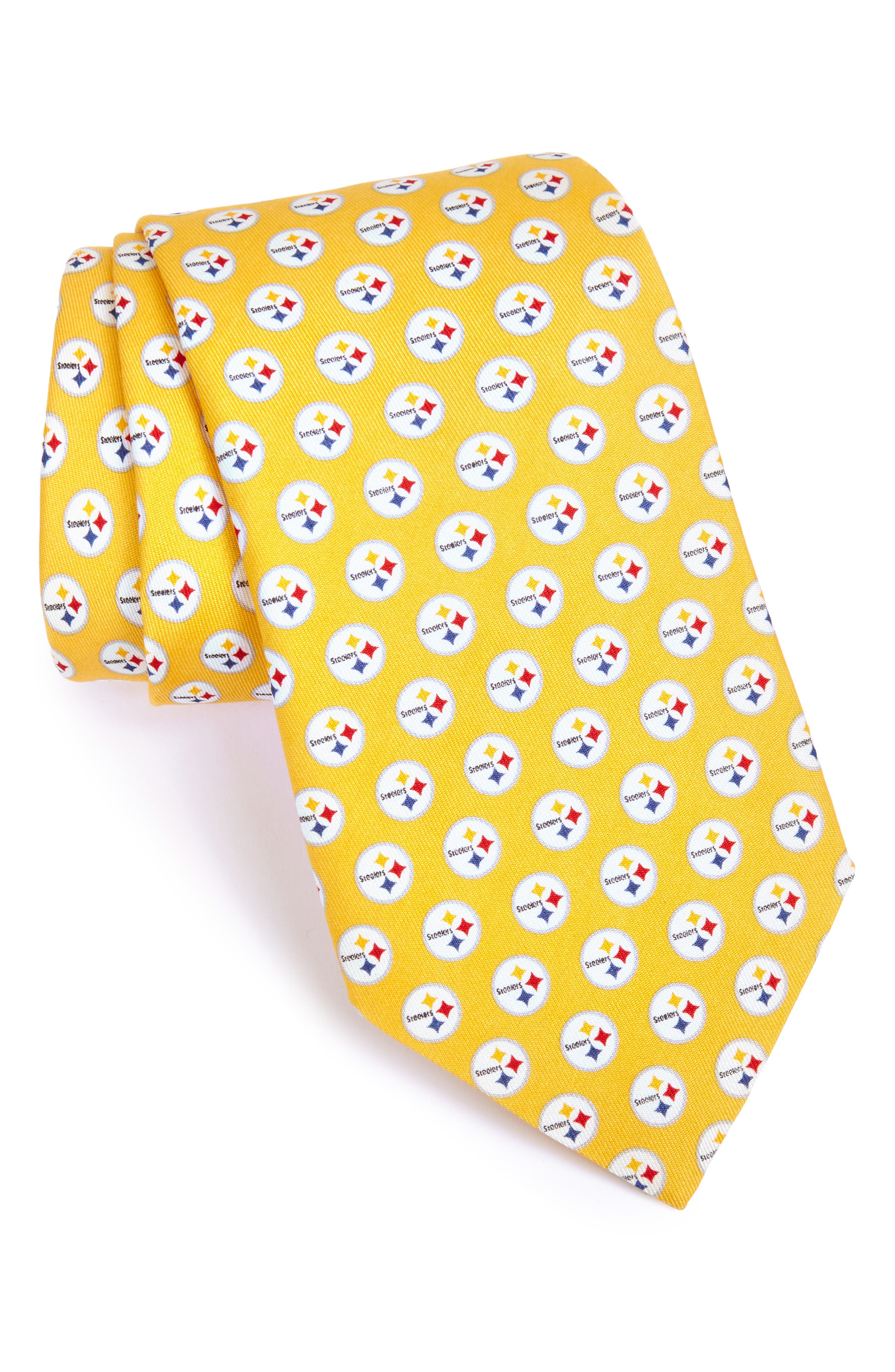 'Pittsburgh Steelers - NFL' Woven Silk Tie,                         Main,                         color, 720