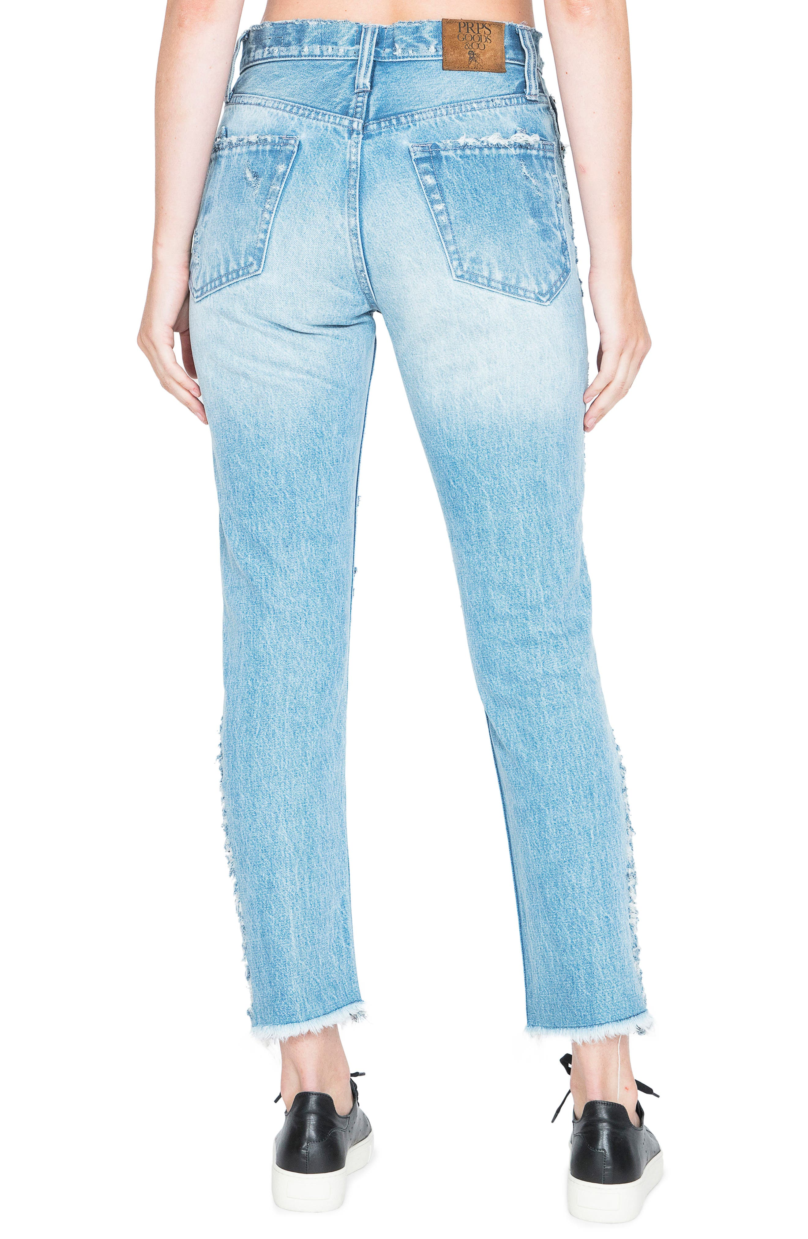 AMX Side Fray High Waist Ankle Jeans,                             Alternate thumbnail 2, color,                             426