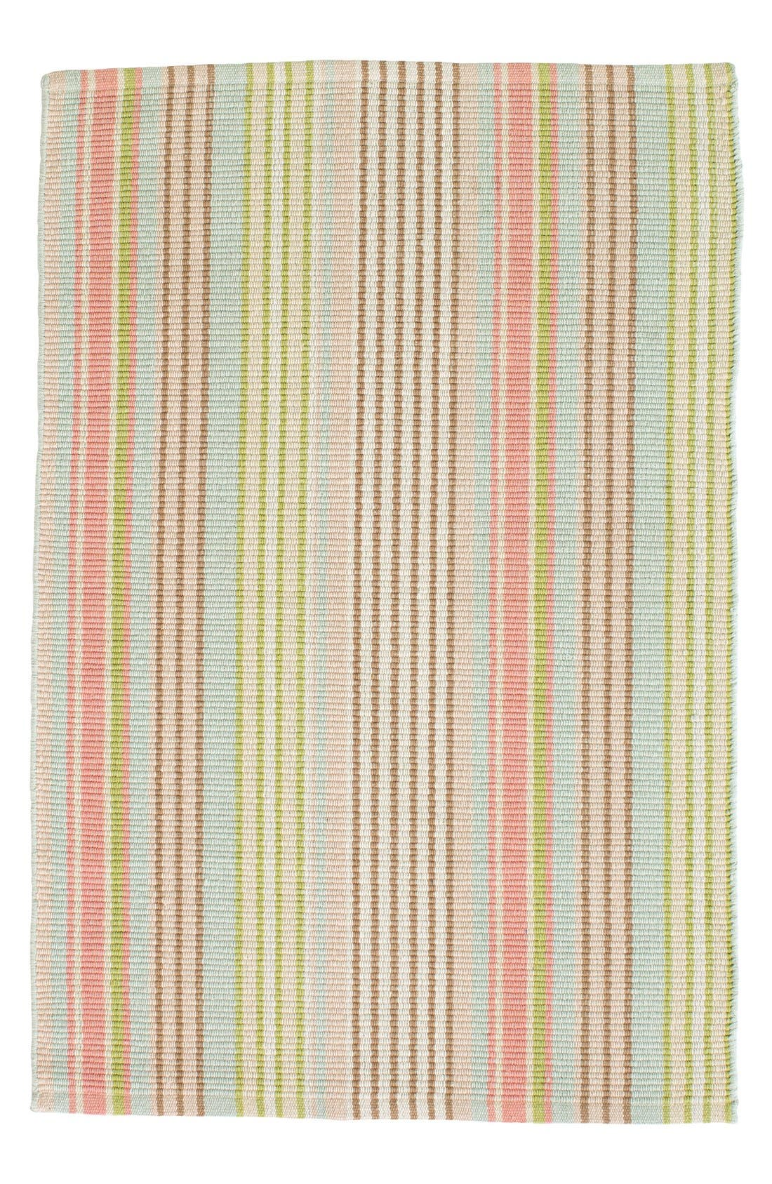 Ana Indoor/Outdoor Ticking Rug,                             Main thumbnail 1, color,                             440