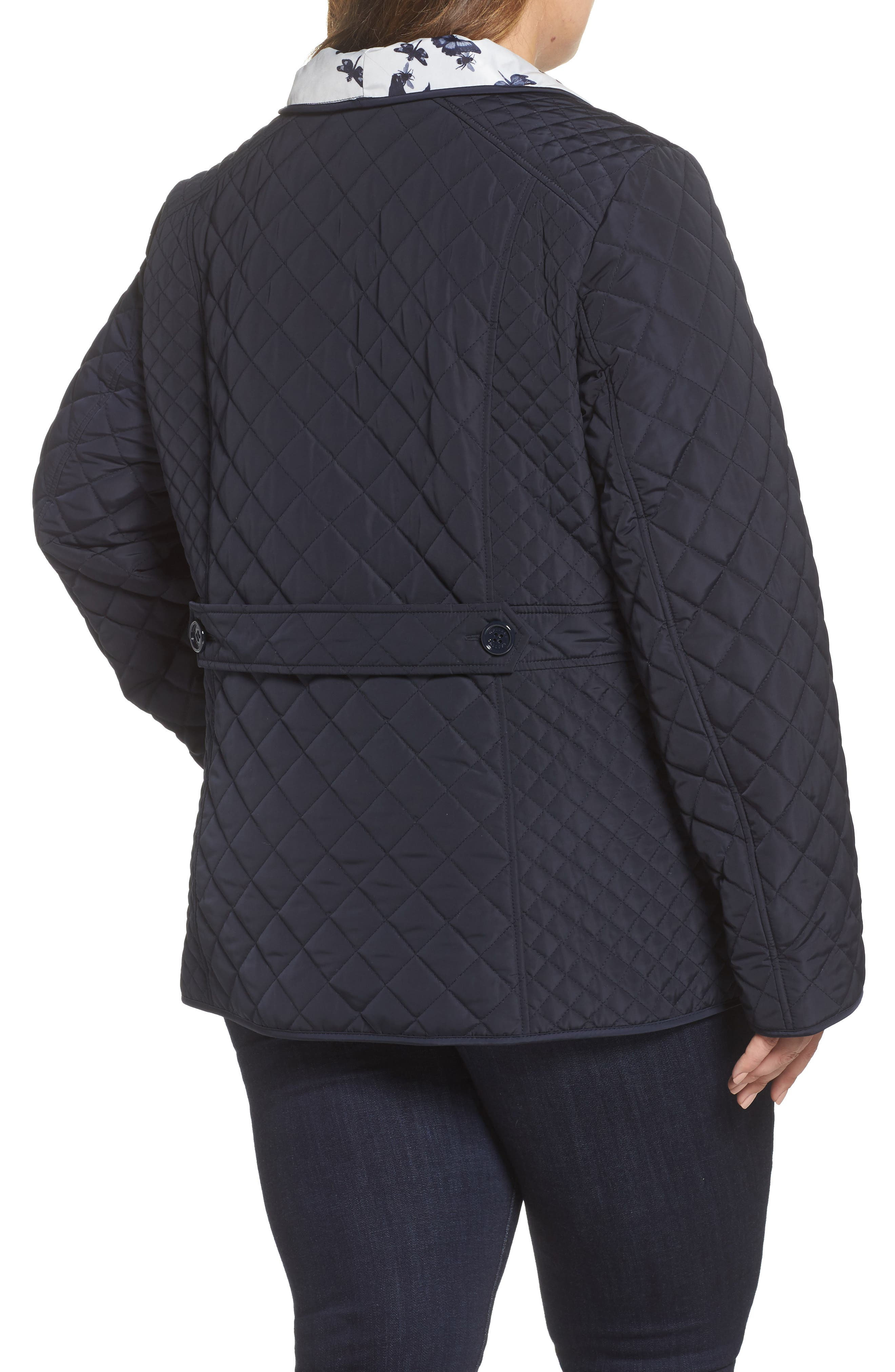 Print Collar Quilted Jacket,                             Alternate thumbnail 2, color,                             410