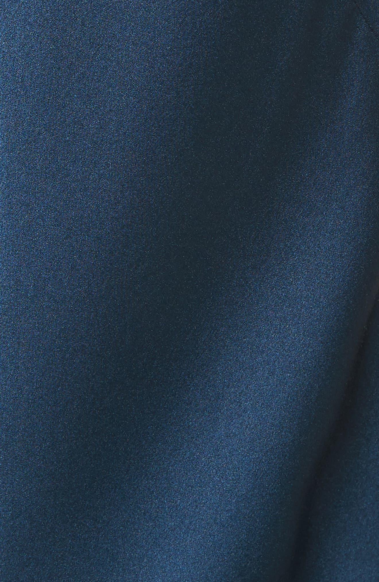 Mikel Stretch Silk Midi Dress,                             Alternate thumbnail 5, color,                             420