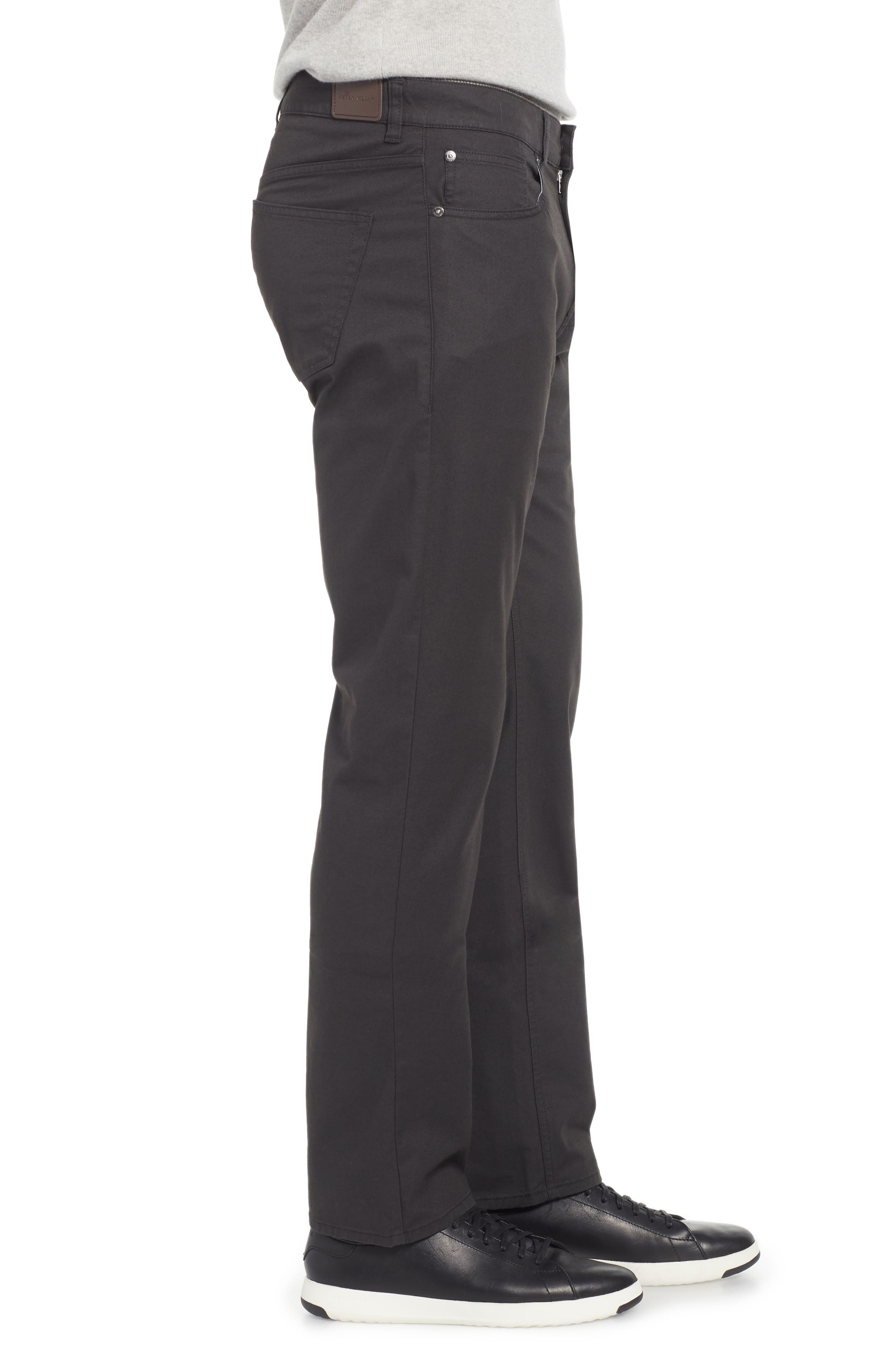Soft Touch Twill Pants,                             Alternate thumbnail 3, color,                             BLACK