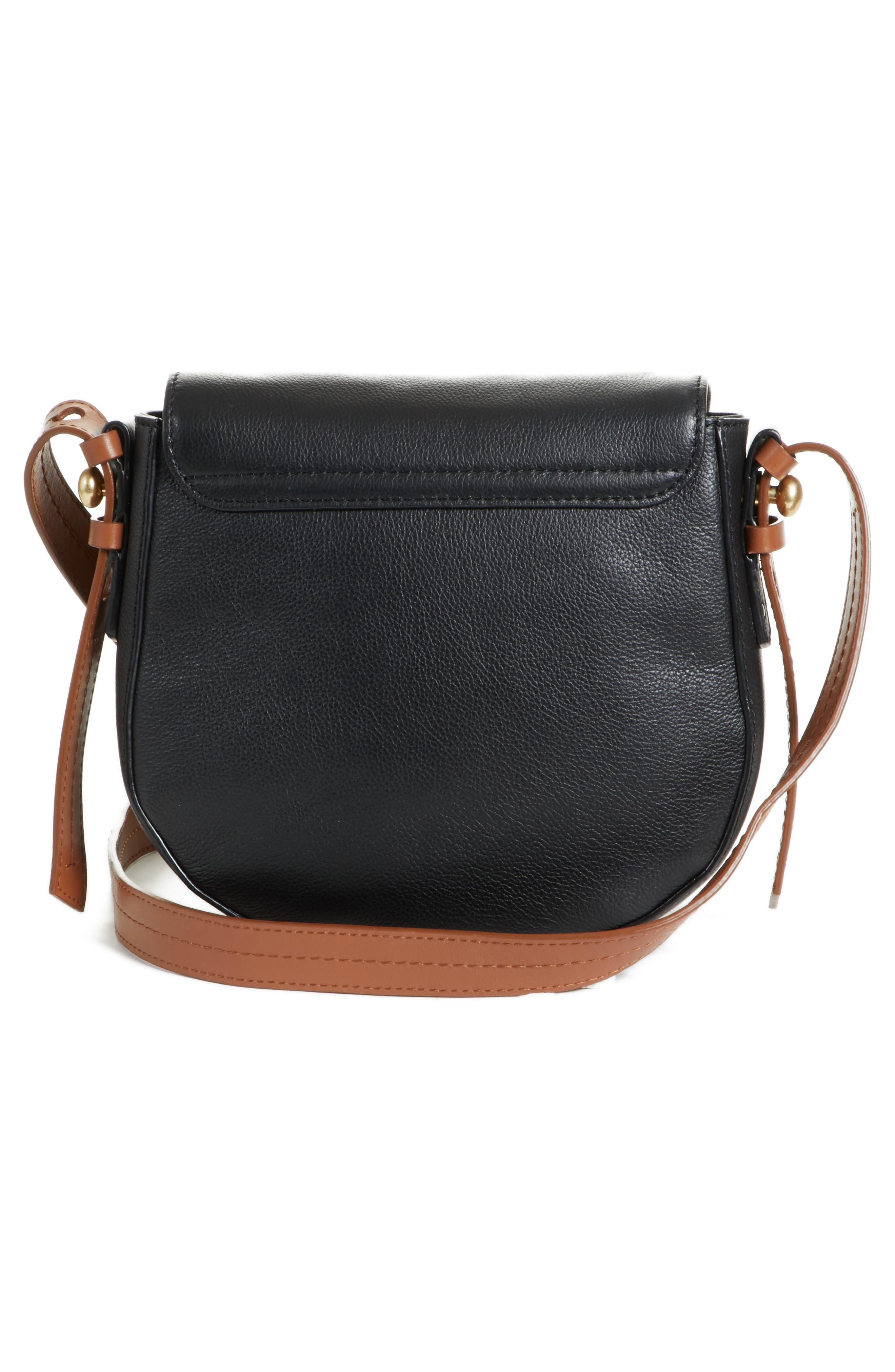 Small Lumir Leather Crossbody Bag,                             Alternate thumbnail 3, color,                             001