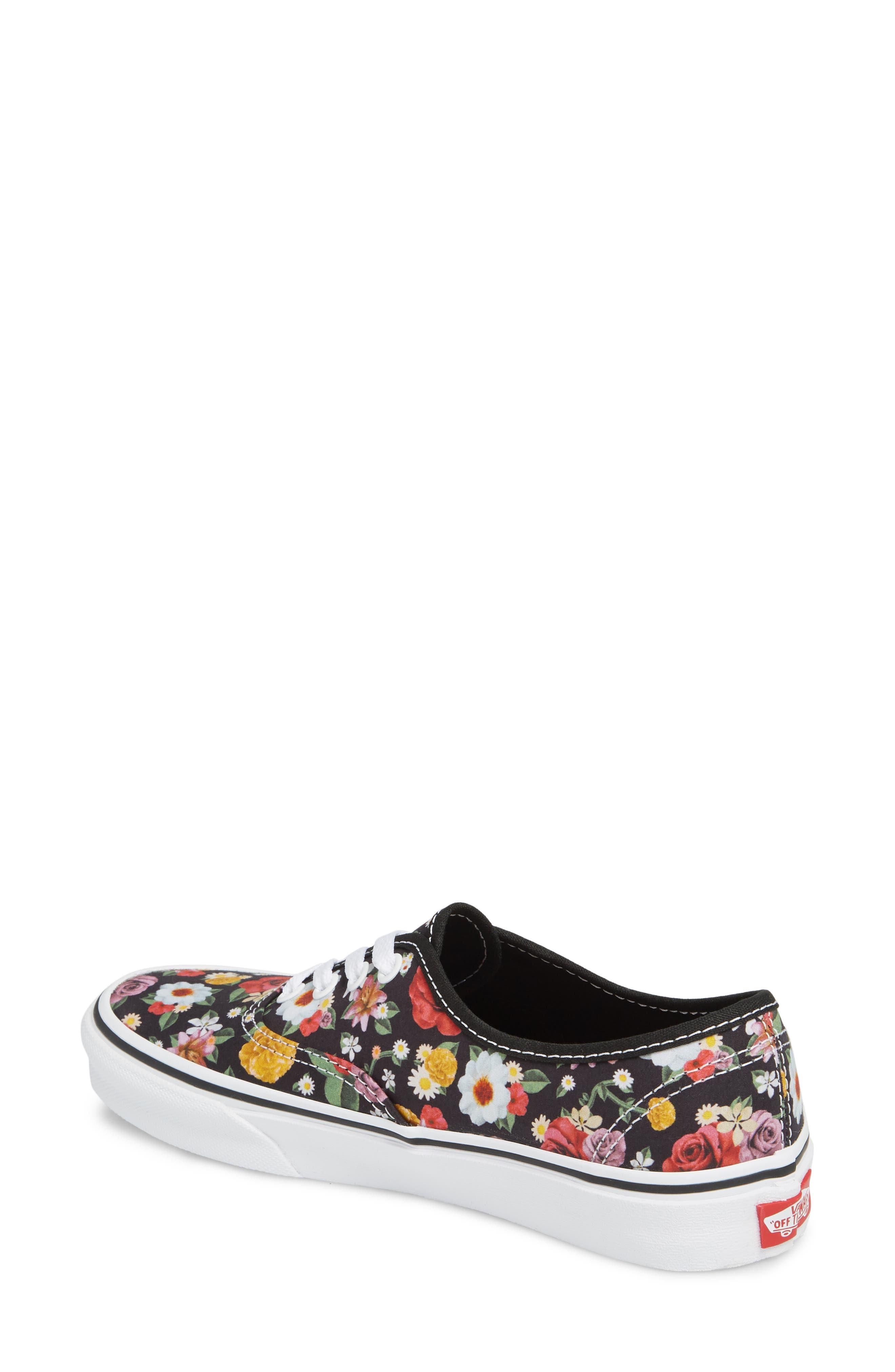 UA Authentic Lux Floral Sneaker,                             Alternate thumbnail 2, color,                             DIGI FLORAL/ BLACK