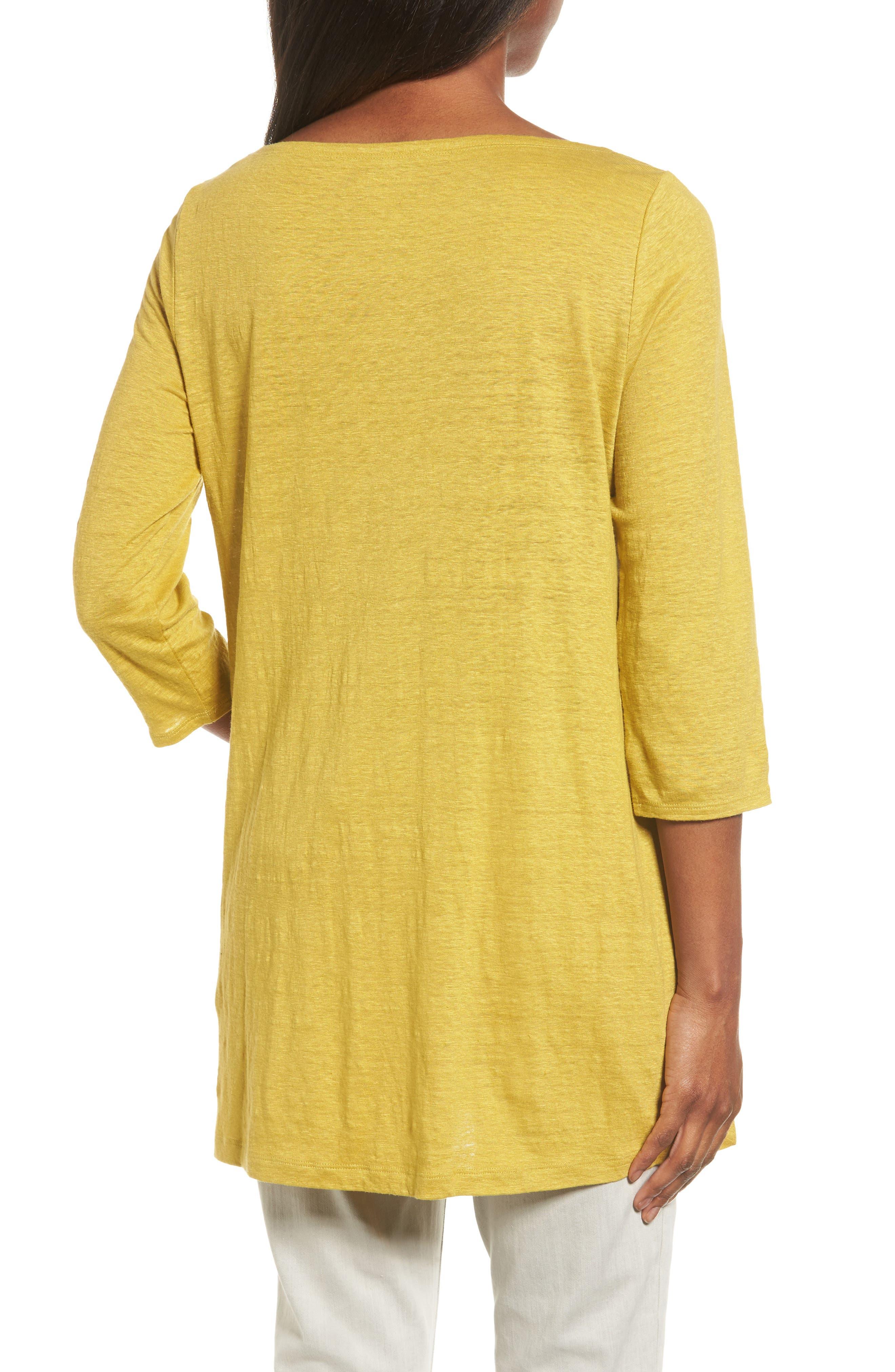 Bateau Neck Organic Linen Tunic,                             Alternate thumbnail 24, color,