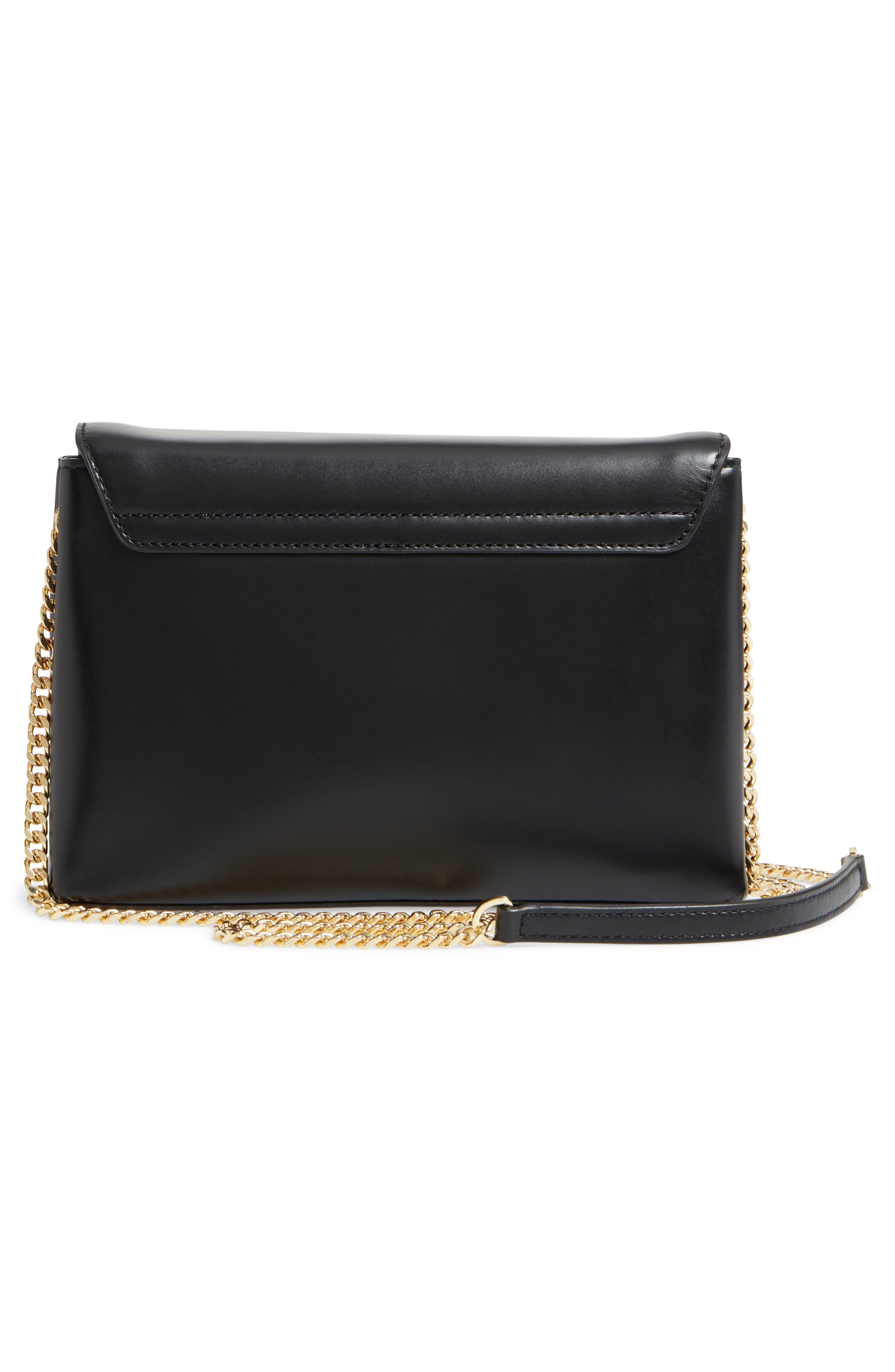Saraa Leather Crossbody Bag,                             Alternate thumbnail 3, color,                             001