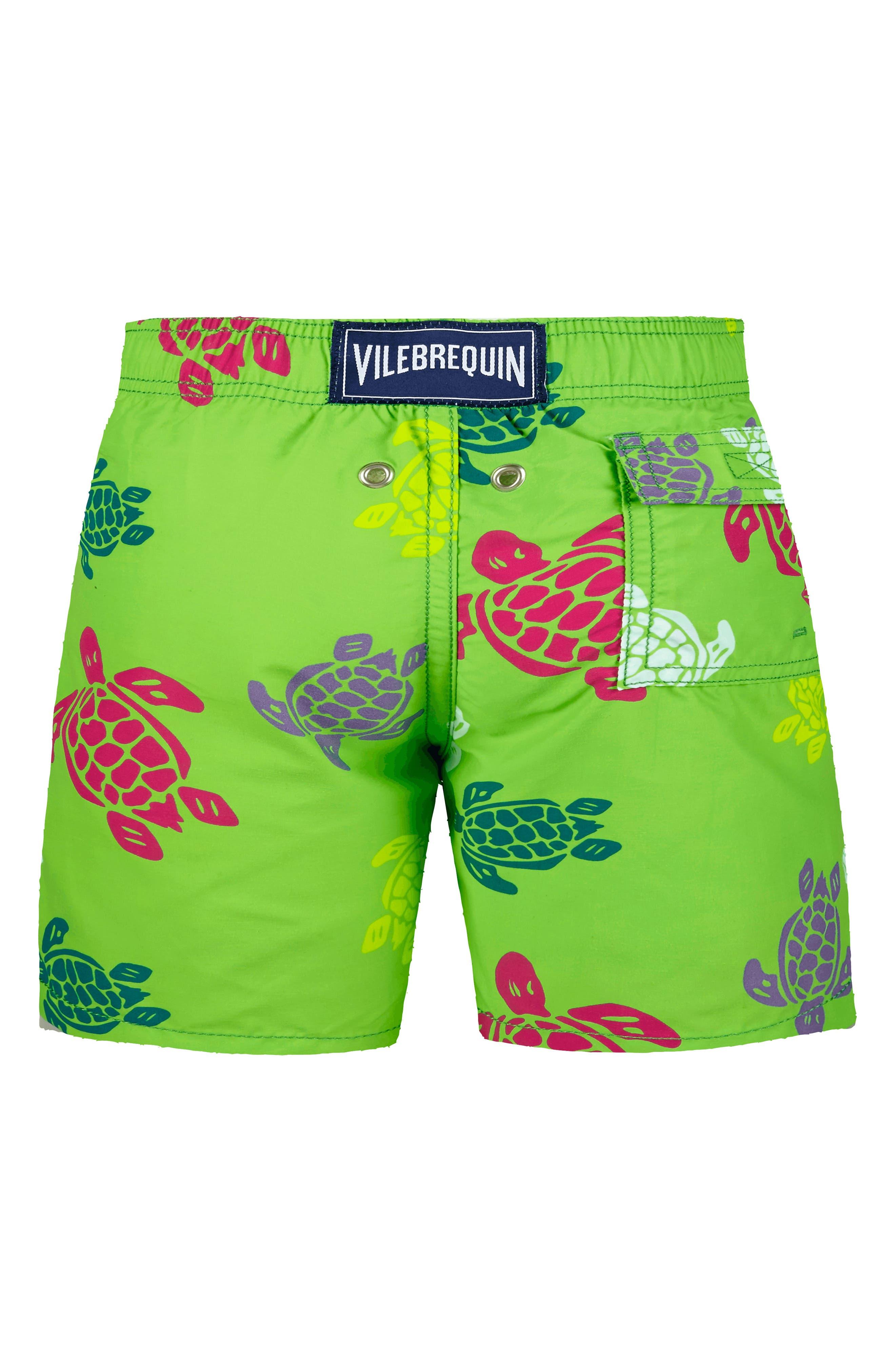 Vilbrequin Turtles Swim Trunks,                             Alternate thumbnail 2, color,                             461VERT PELOUSE