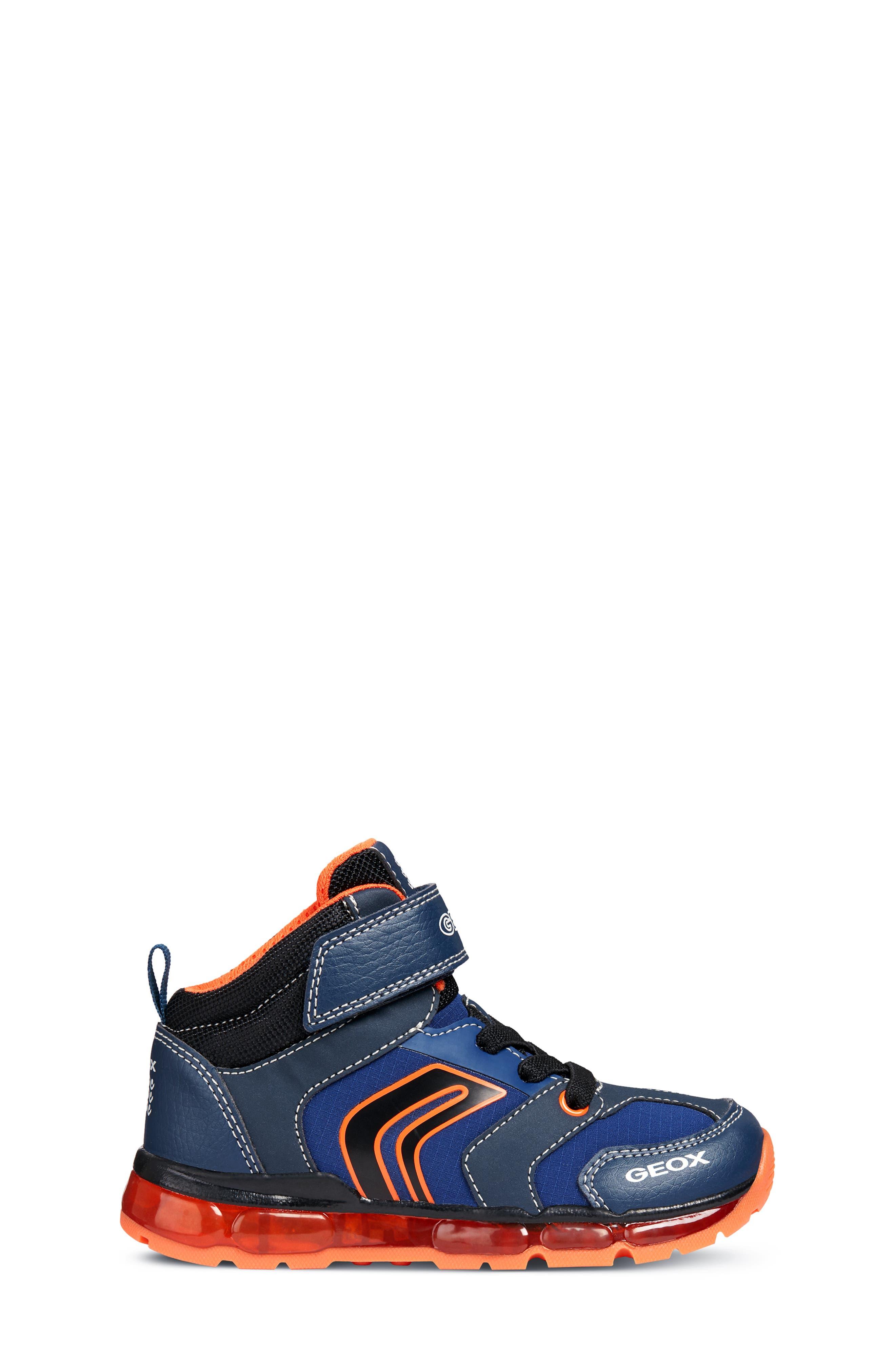 Android Light-Up Sneaker,                             Alternate thumbnail 6, color,                             NAVY/ORANGE