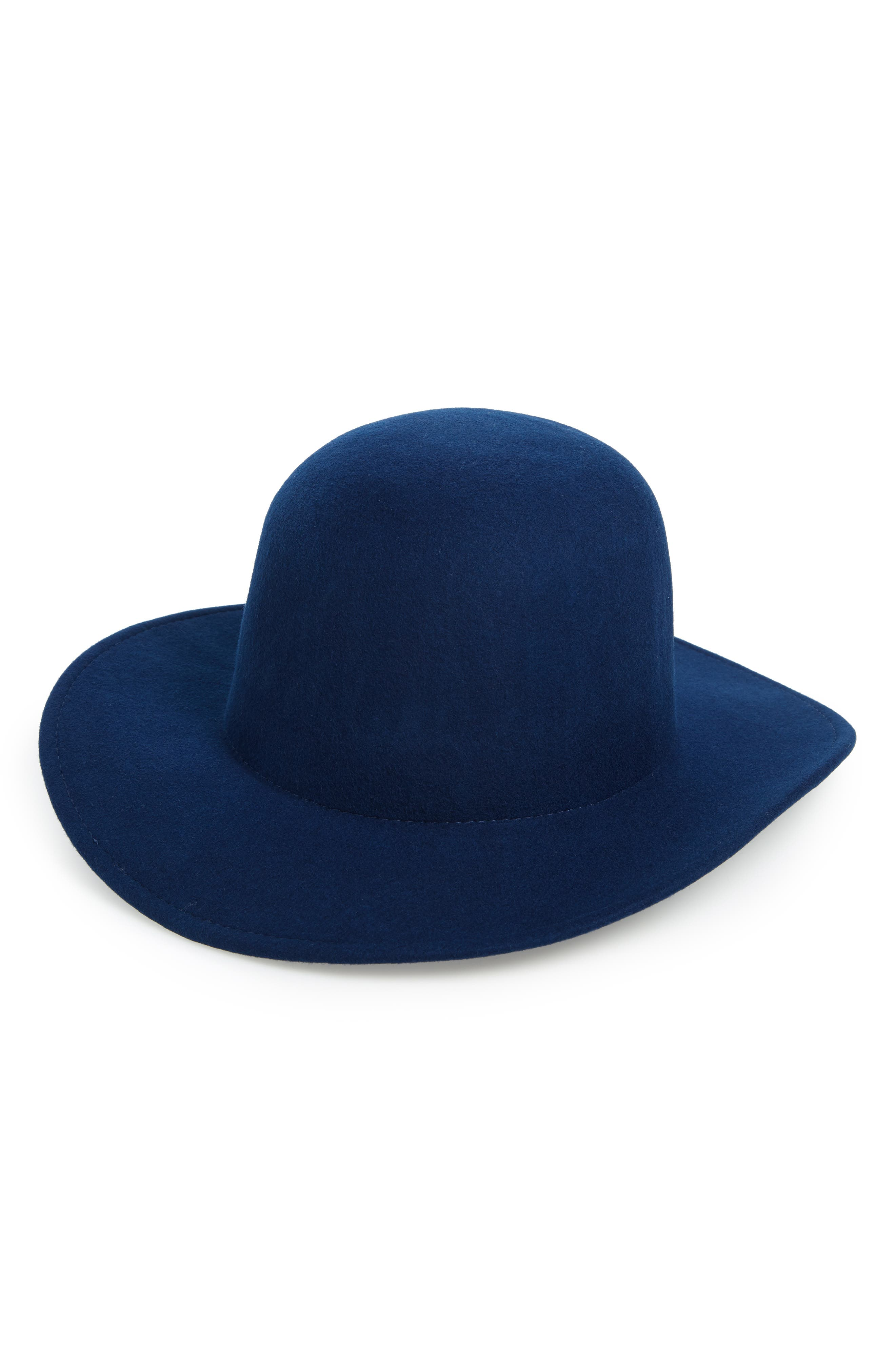 x Biltmore<sup>®</sup> Dome Felt Hat,                         Main,                         color, BLUE NIGHT