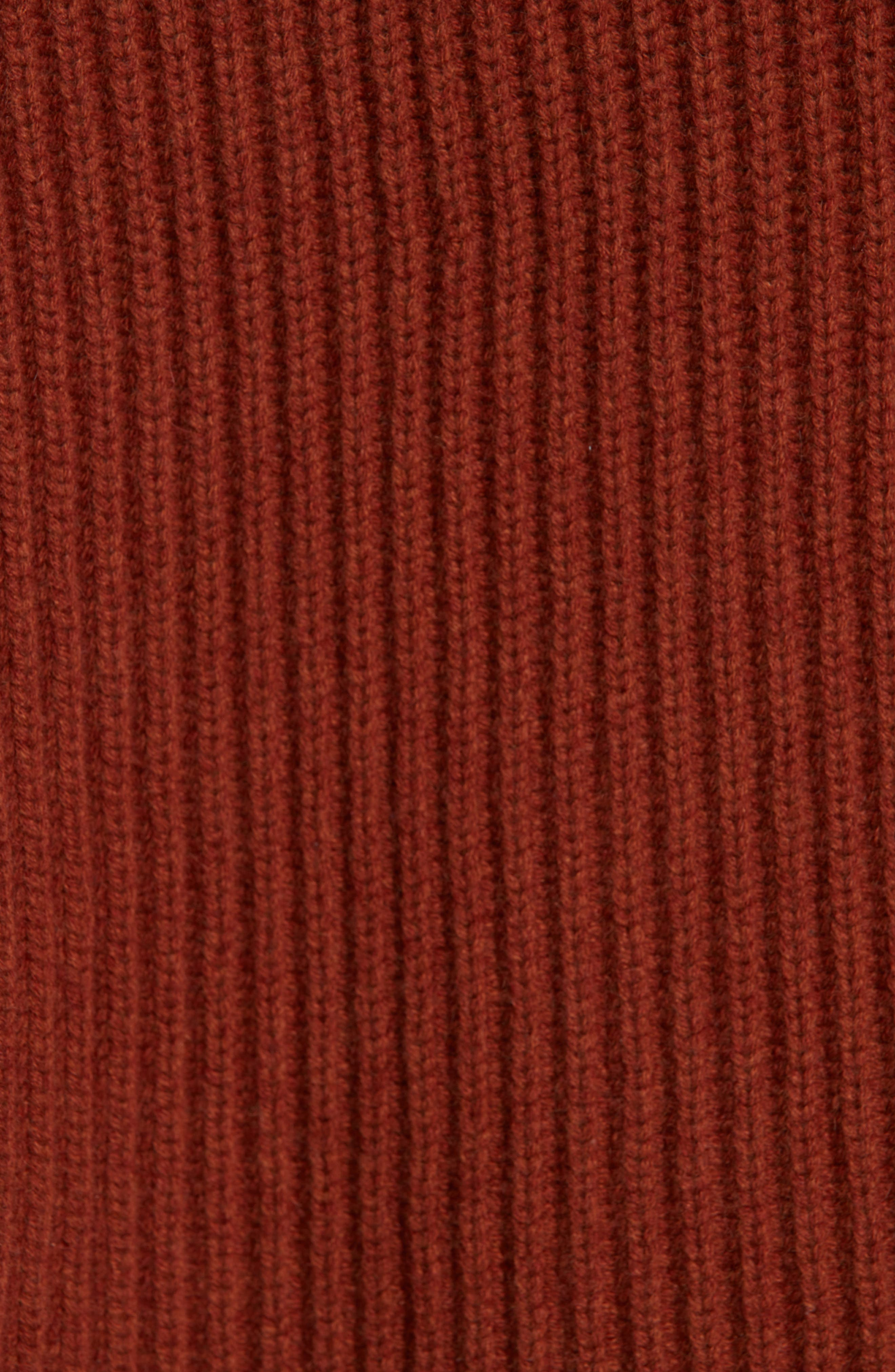 Ribbed Cashmere Turtleneck Sweater,                             Alternate thumbnail 5, color,                             221
