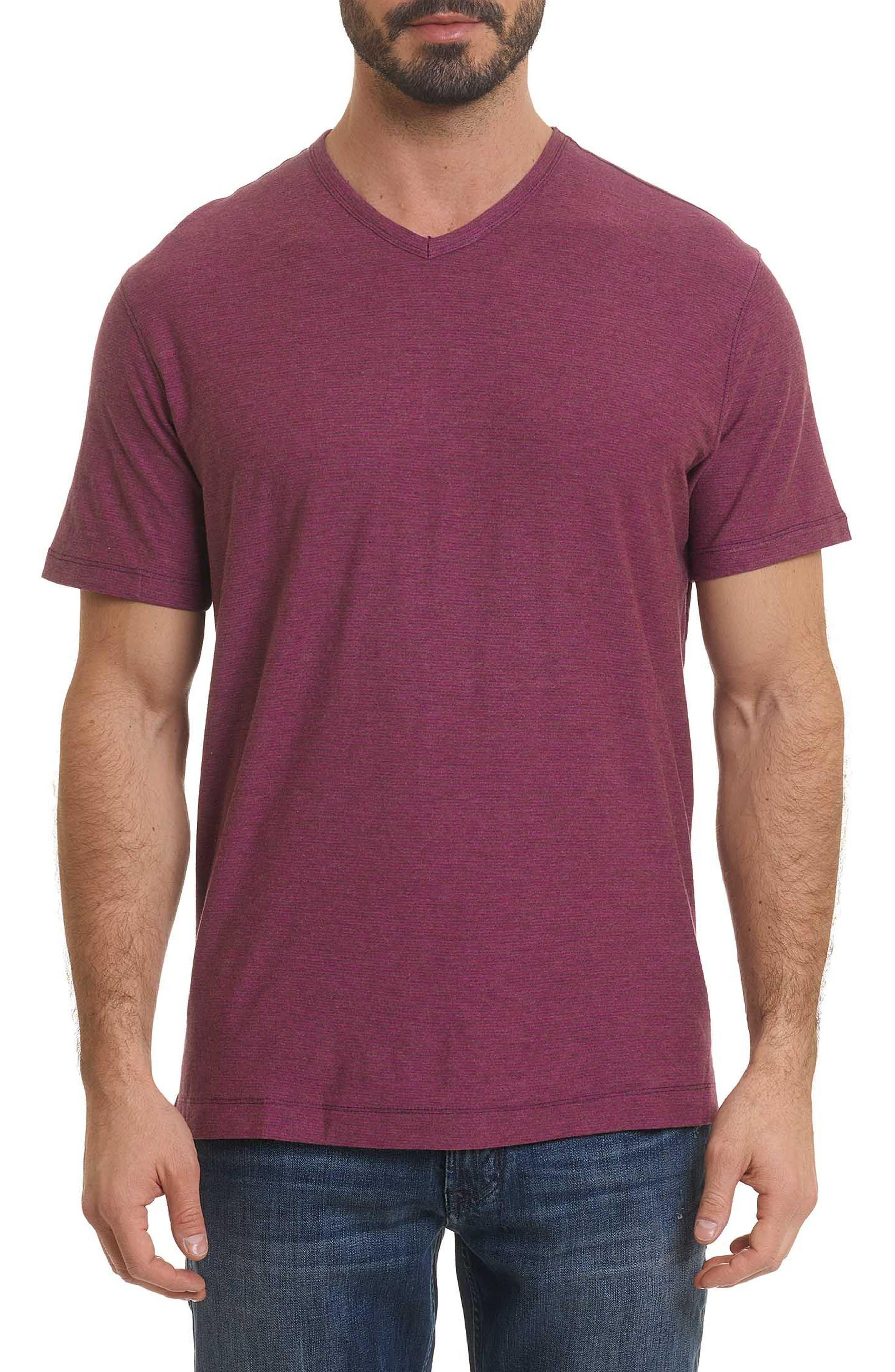 Orchidlands Stripe T-Shirt,                             Main thumbnail 1, color,                             HEATHER AMETHYST