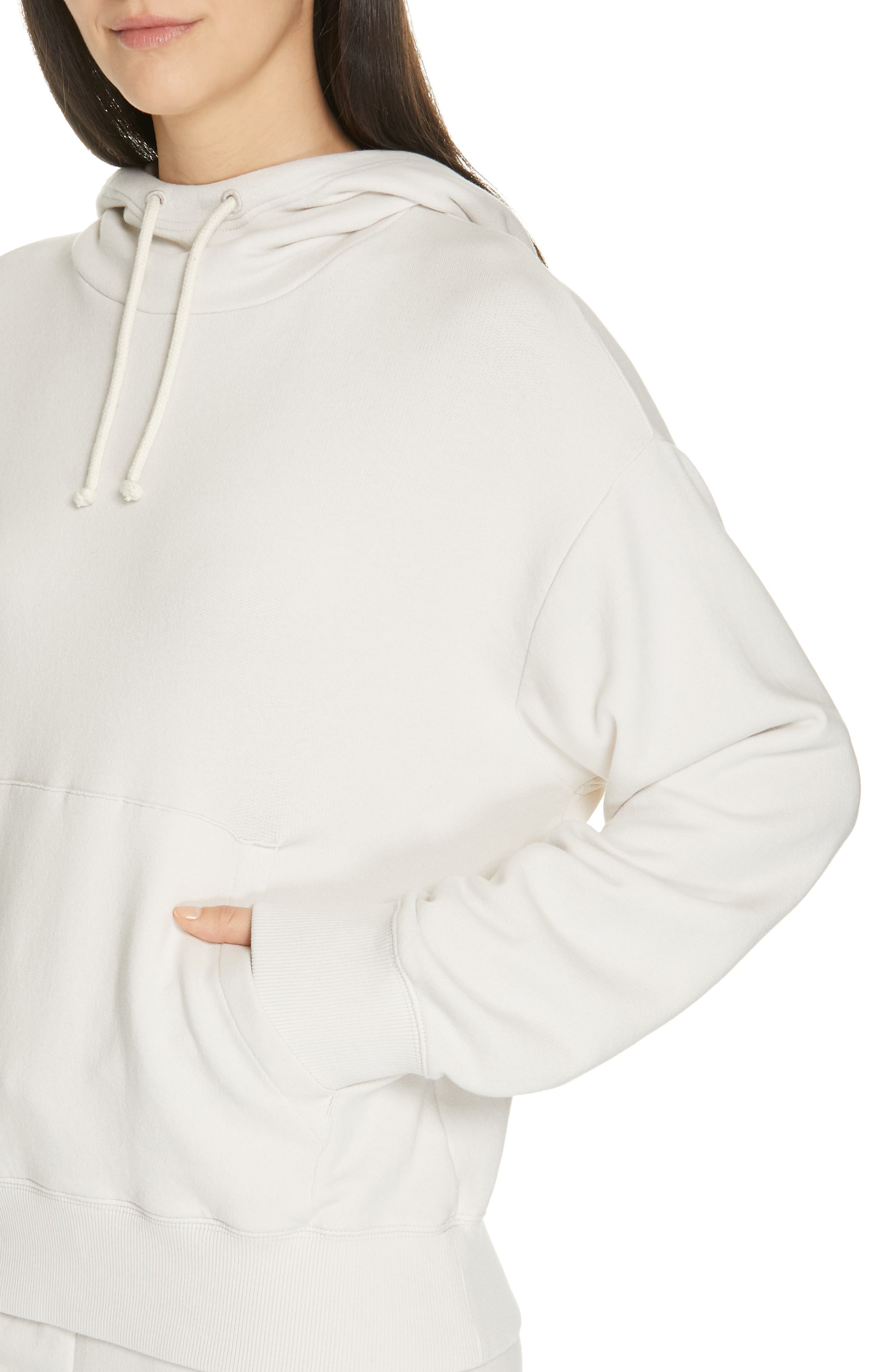 VINCE,                             Hoodie,                             Alternate thumbnail 4, color,                             BLANCH