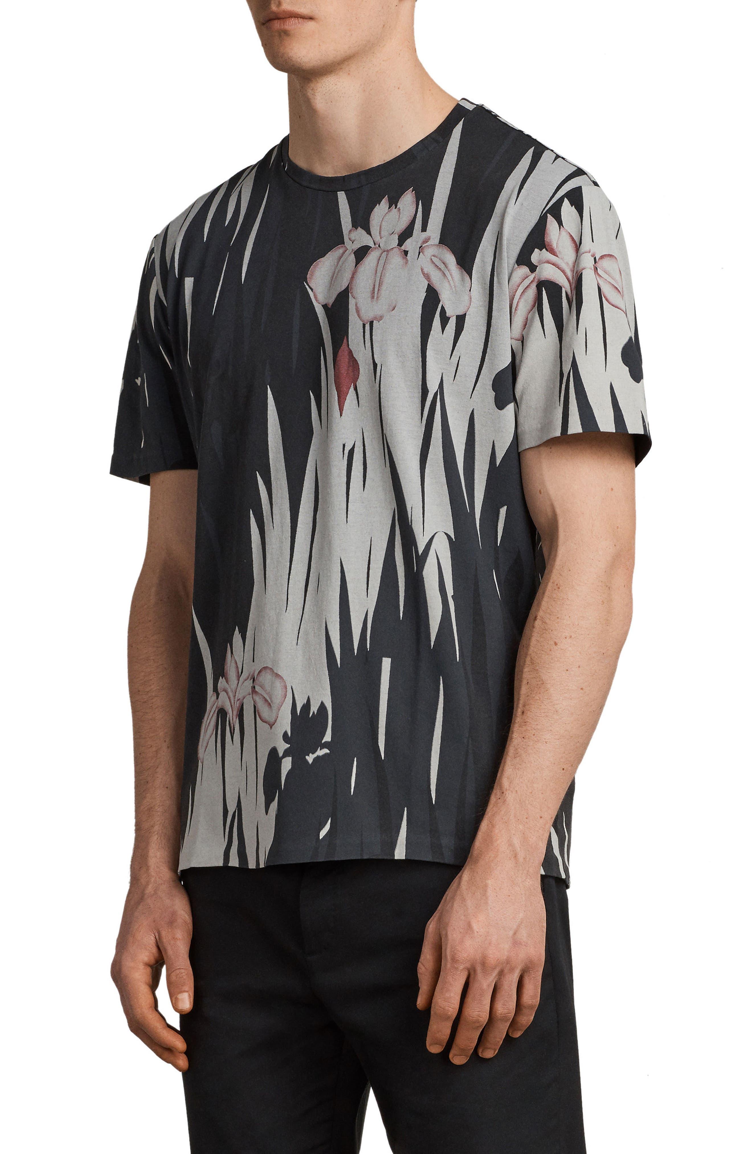 Nahiku Oversized Crewneck T-shirt,                             Alternate thumbnail 3, color,                             004