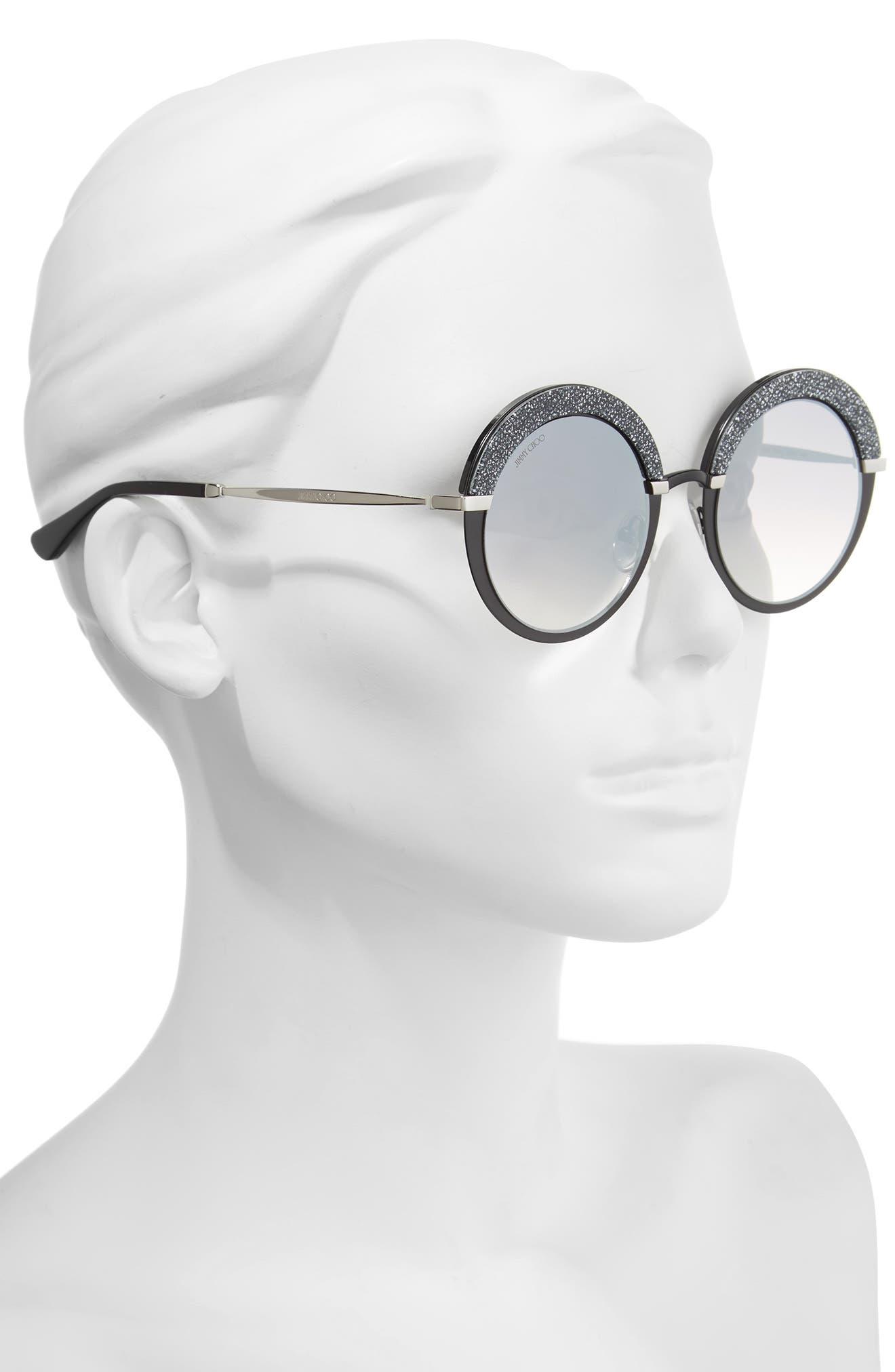 Gotha/S 50mm Round Sunglasses,                             Alternate thumbnail 2, color,                             001