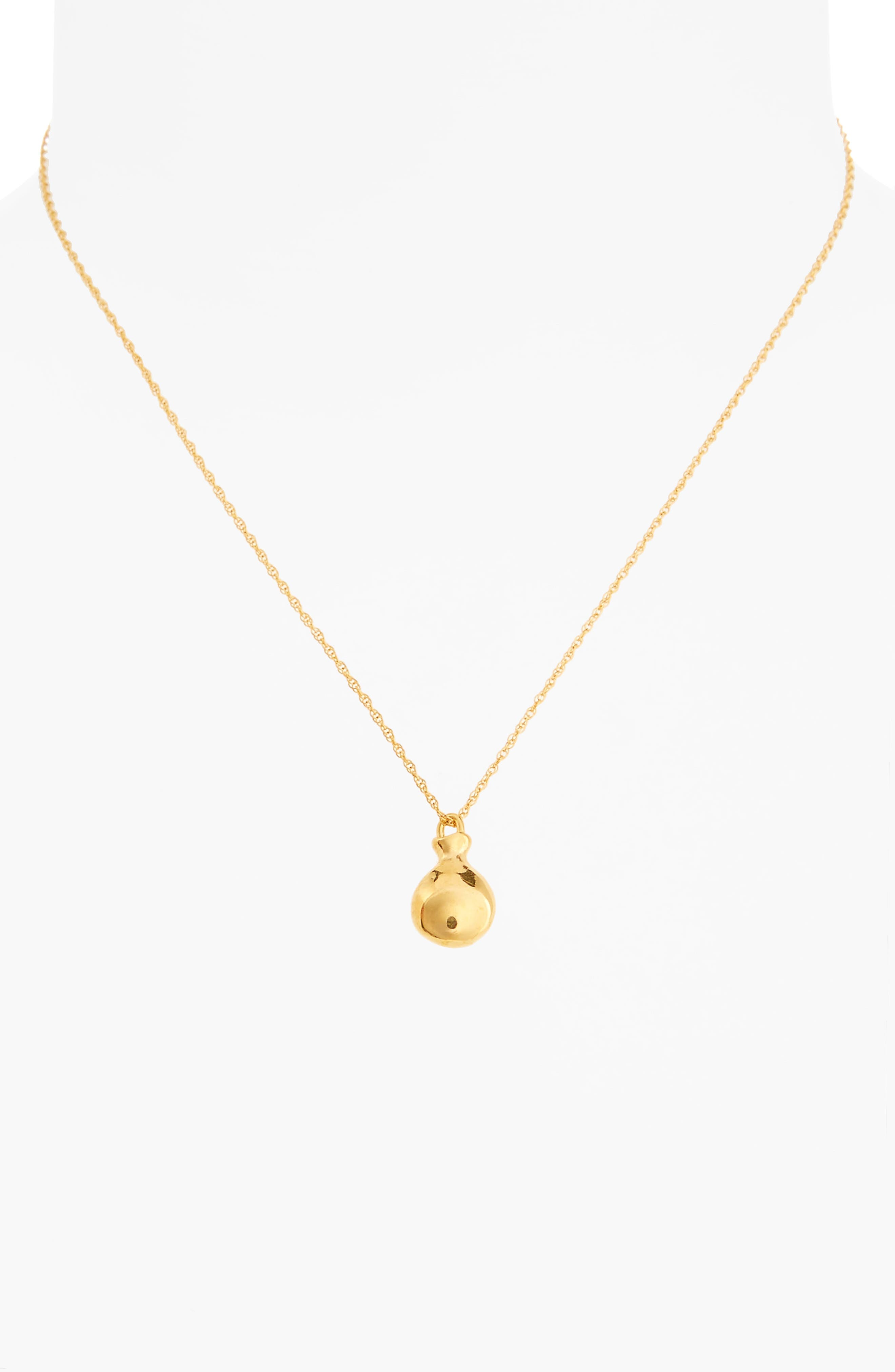 Tiny Perfume Pendant Necklace,                             Alternate thumbnail 2, color,