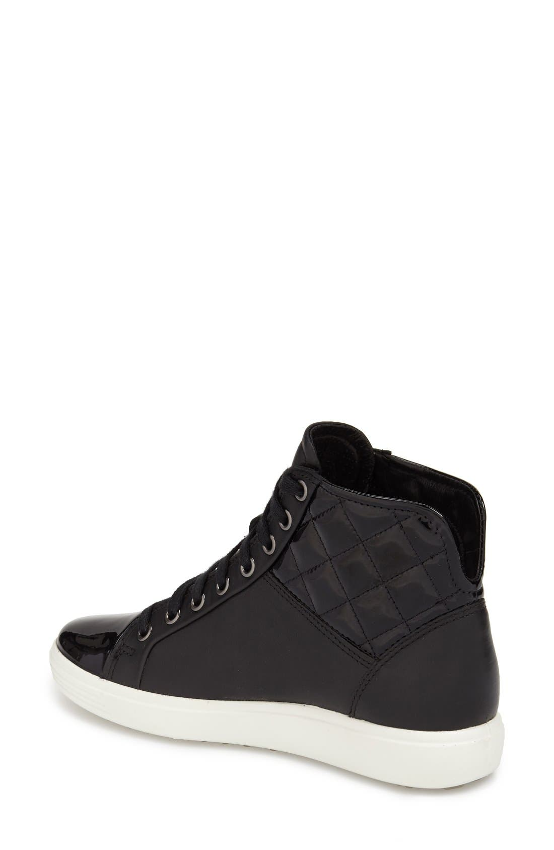 'Soft 7' Quilted High Top Sneaker,                             Alternate thumbnail 4, color,                             009