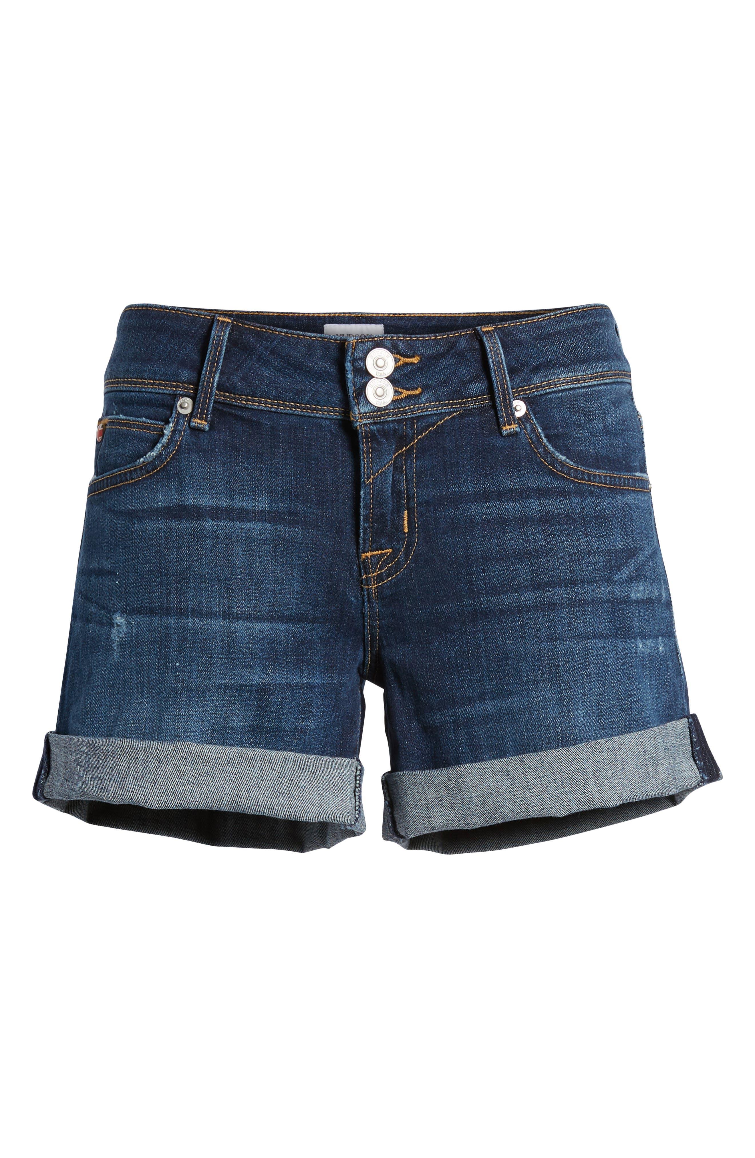 Croxley Cuffed Denim Shorts,                             Alternate thumbnail 7, color,                             423
