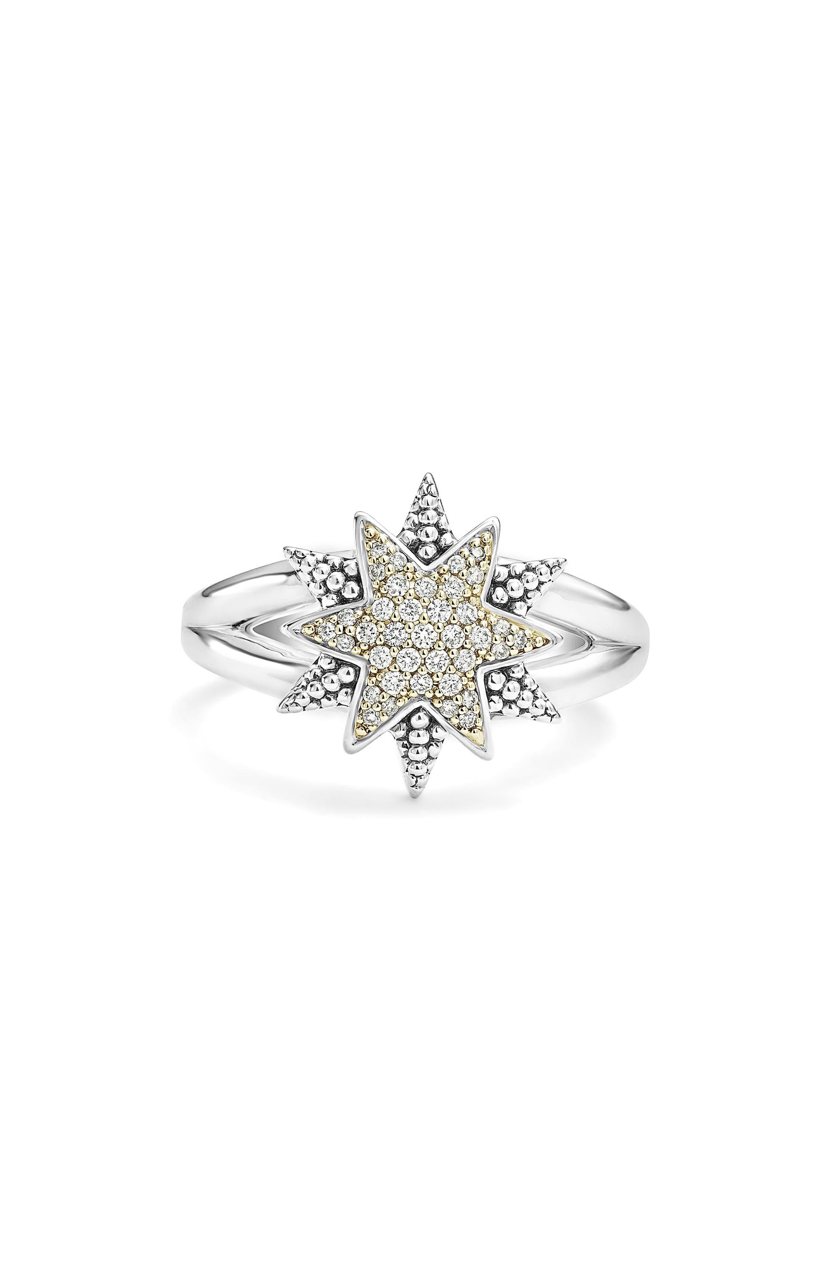 North Star Ring,                             Alternate thumbnail 4, color,                             DIAMOND