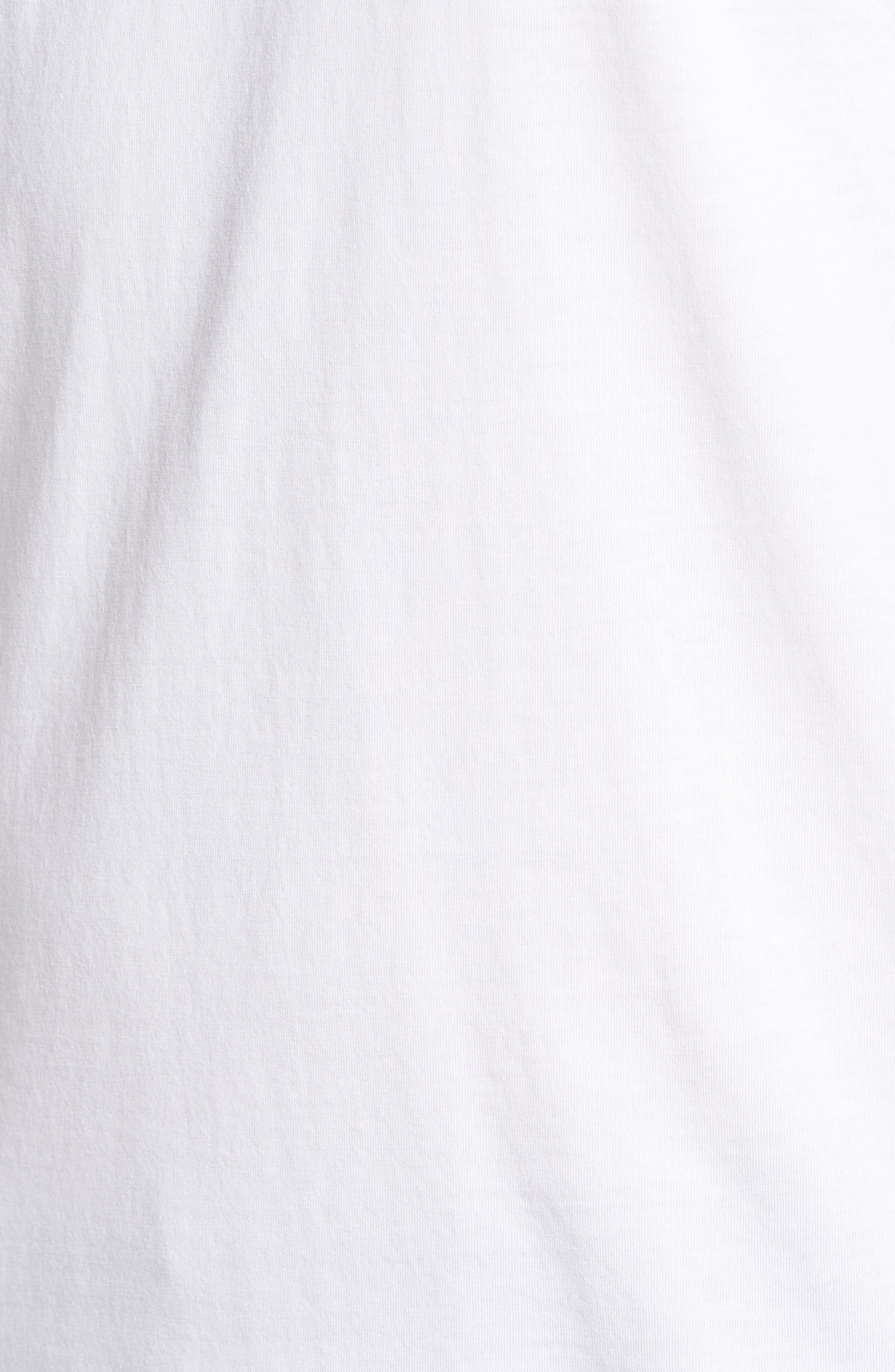 Mercer V-Neck T-Shirt,                             Alternate thumbnail 5, color,                             WHITE