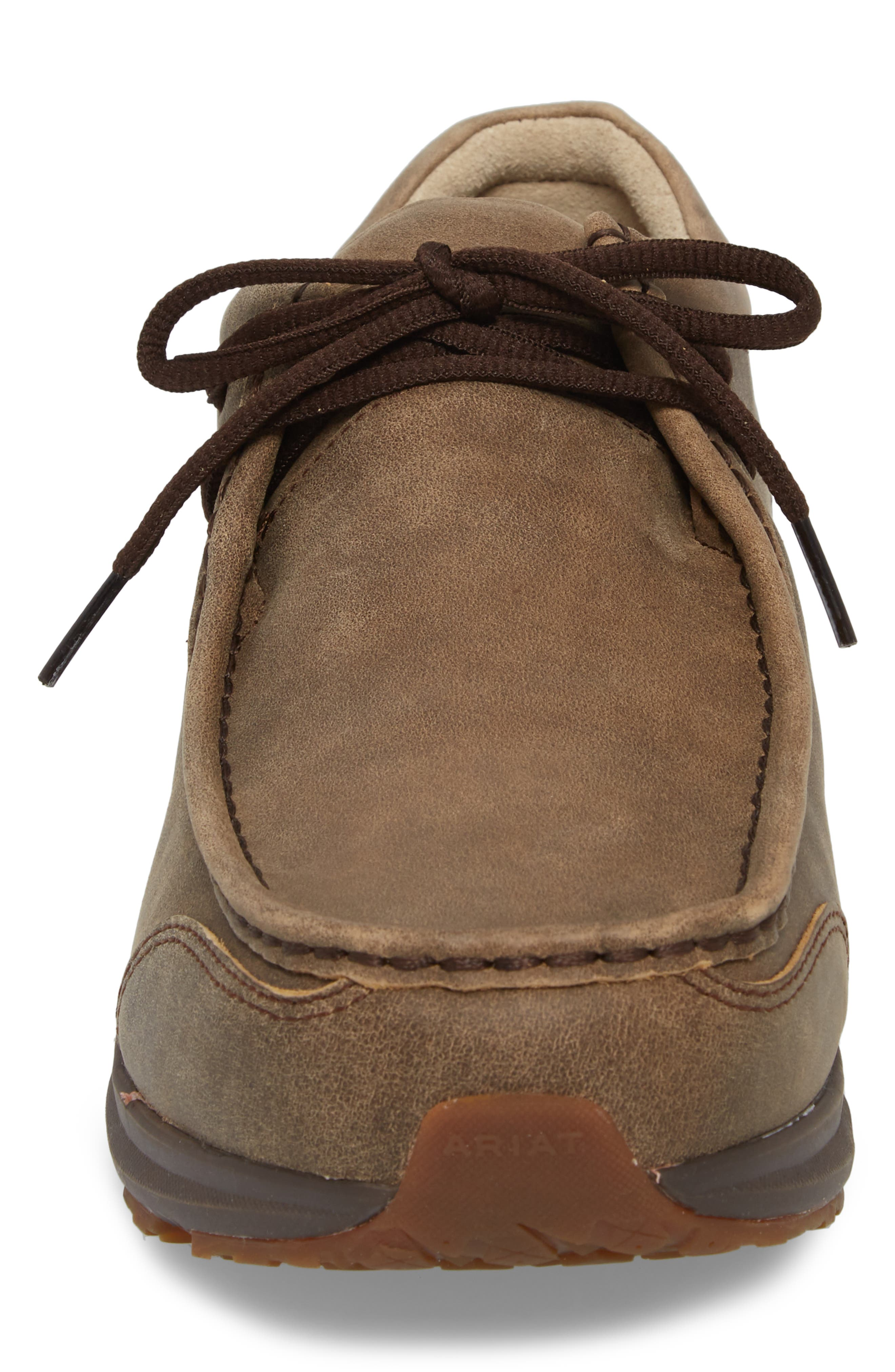 Spitfire Moc Toe Lace-Up,                             Alternate thumbnail 4, color,                             BROWN LEATHER