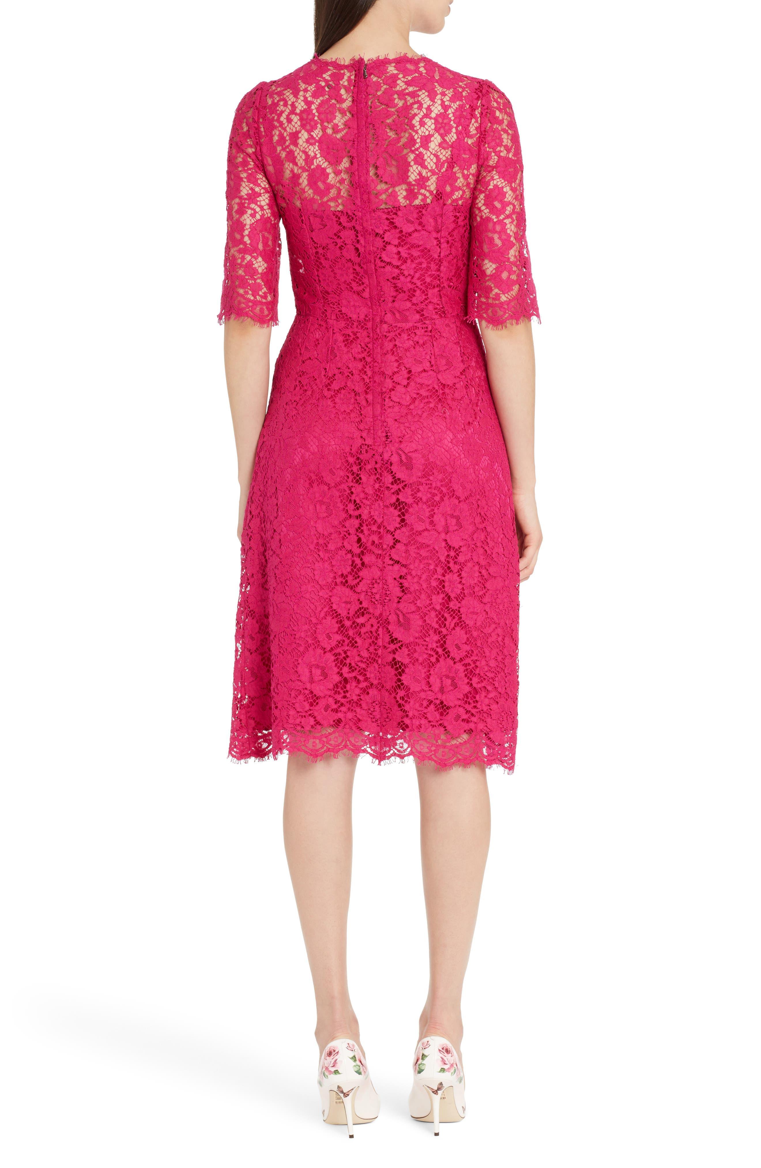 Lace A-Line Dress,                             Alternate thumbnail 2, color,                             651