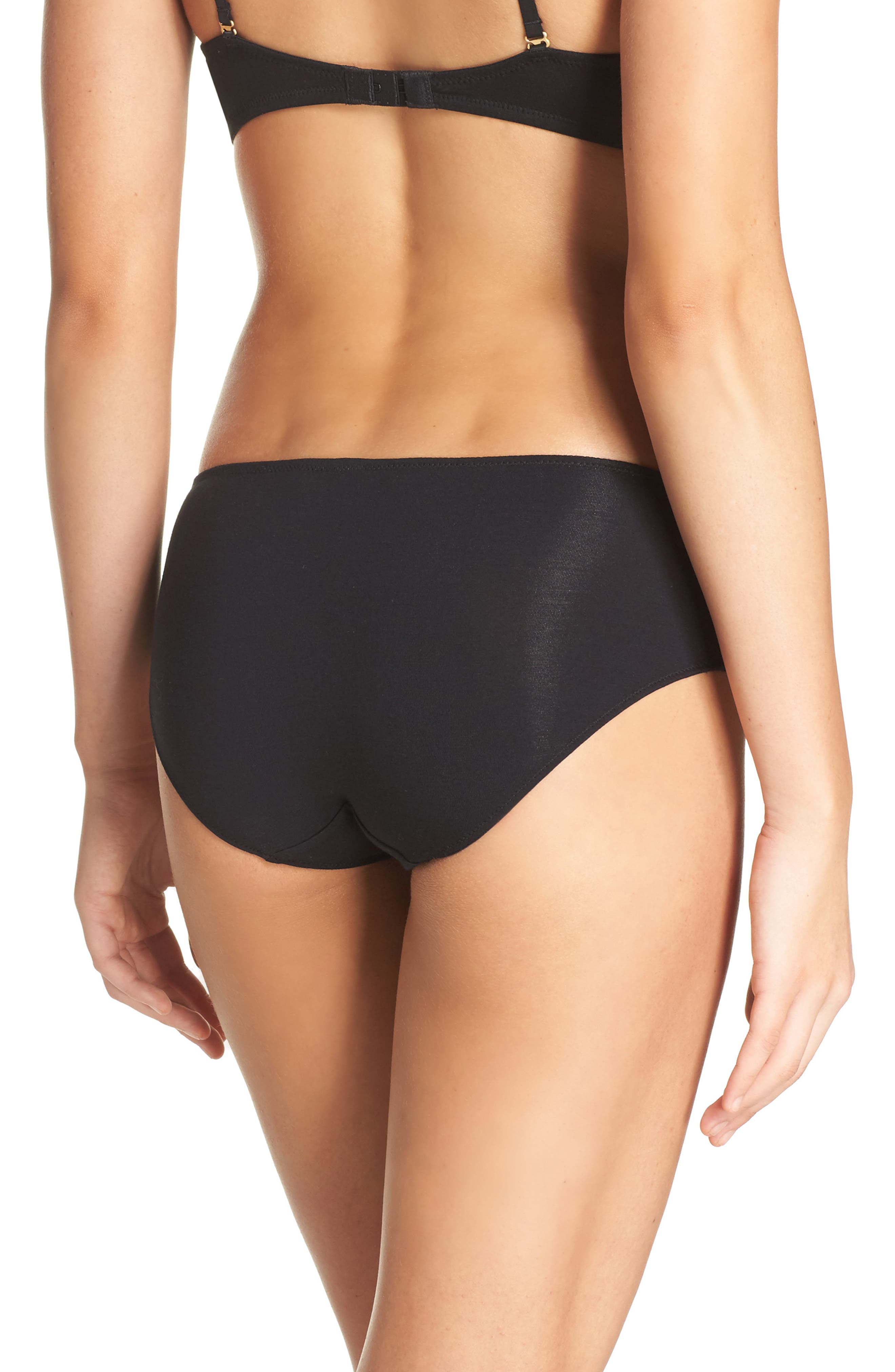 Hipster Undies,                             Alternate thumbnail 2, color,                             TRUE BLACK