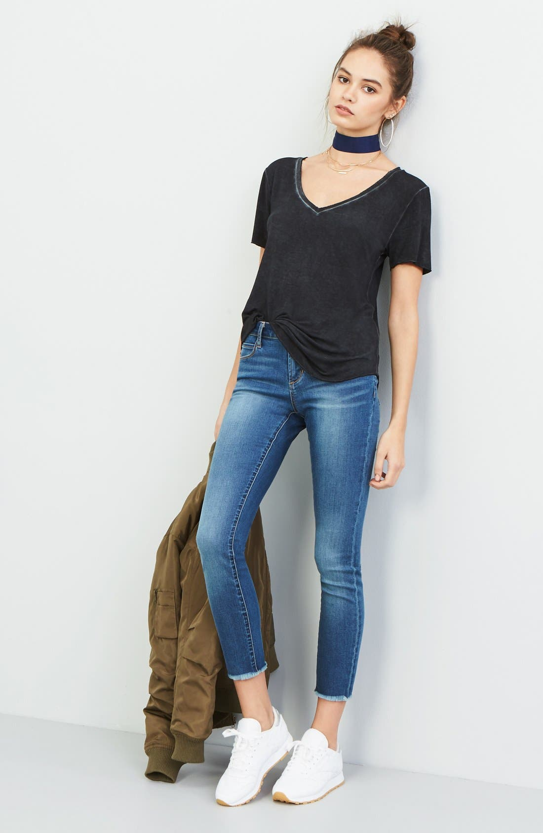 Carly Crop Skinny Jeans,                             Alternate thumbnail 7, color,                             498