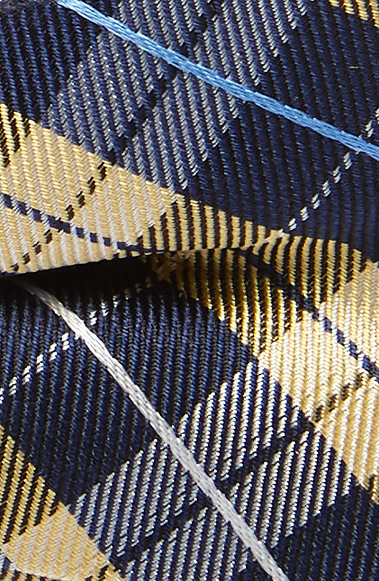 Plaid Silk Bow Tie,                             Alternate thumbnail 2, color,                             YELLOW