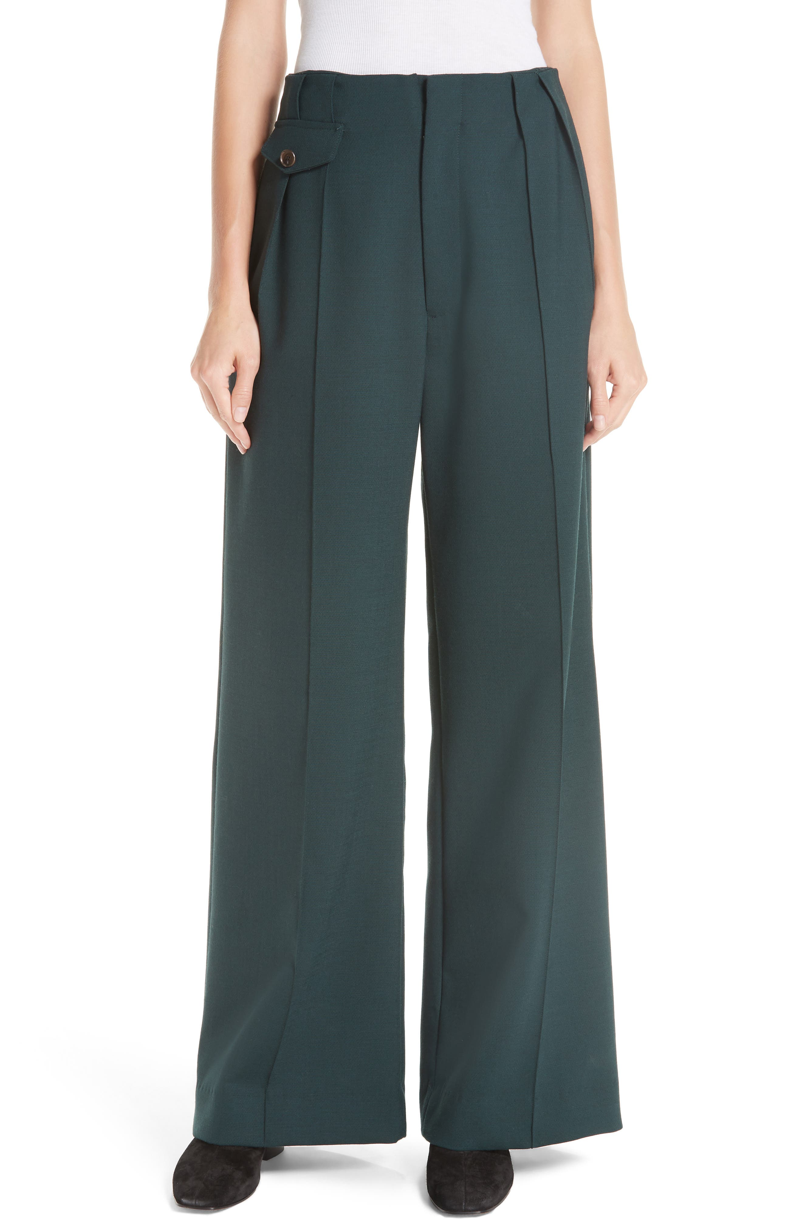 Seamed Wide Leg Trousers,                             Main thumbnail 1, color,                             300