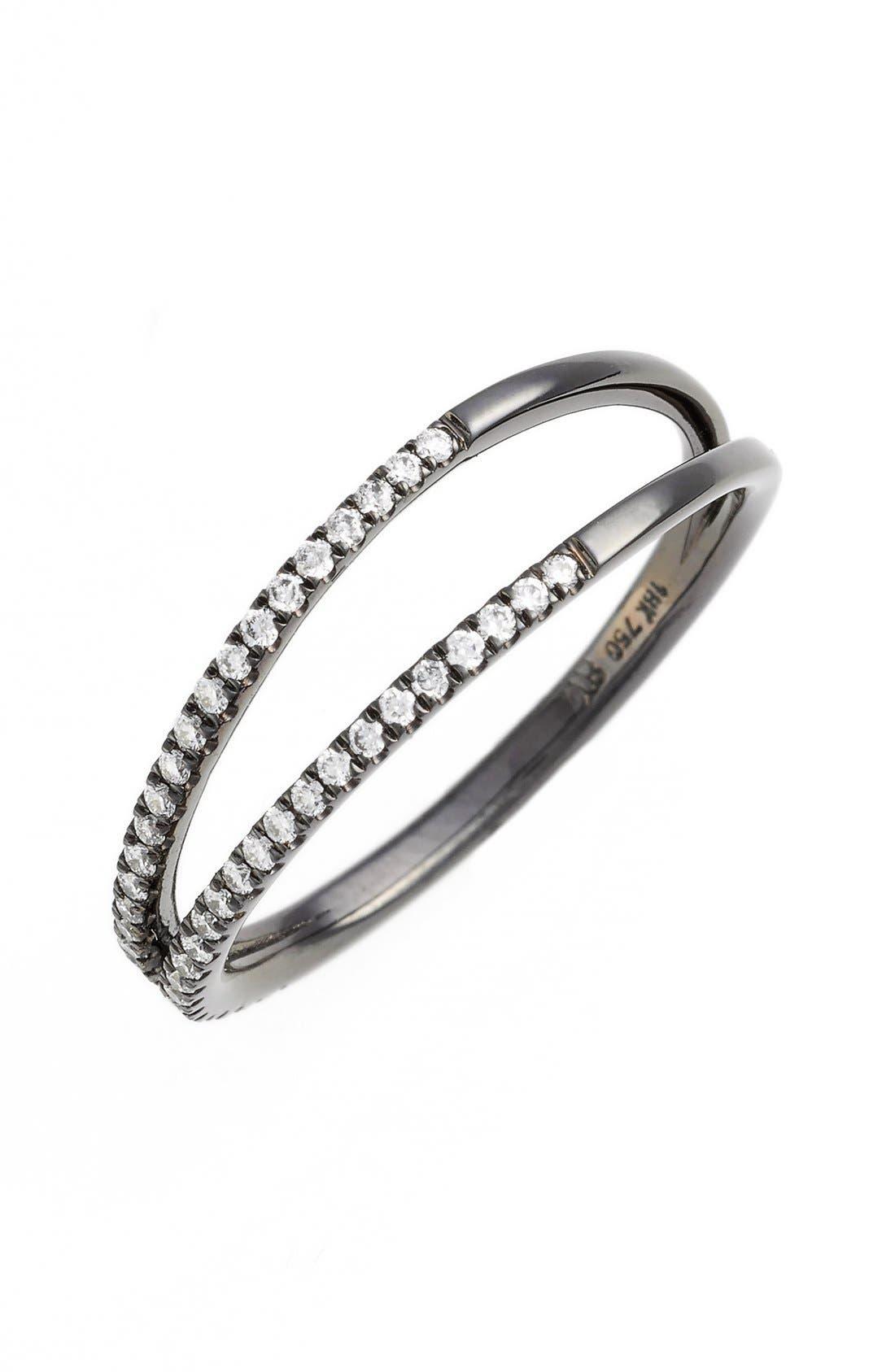 Diamond Two Row Ring,                             Main thumbnail 4, color,