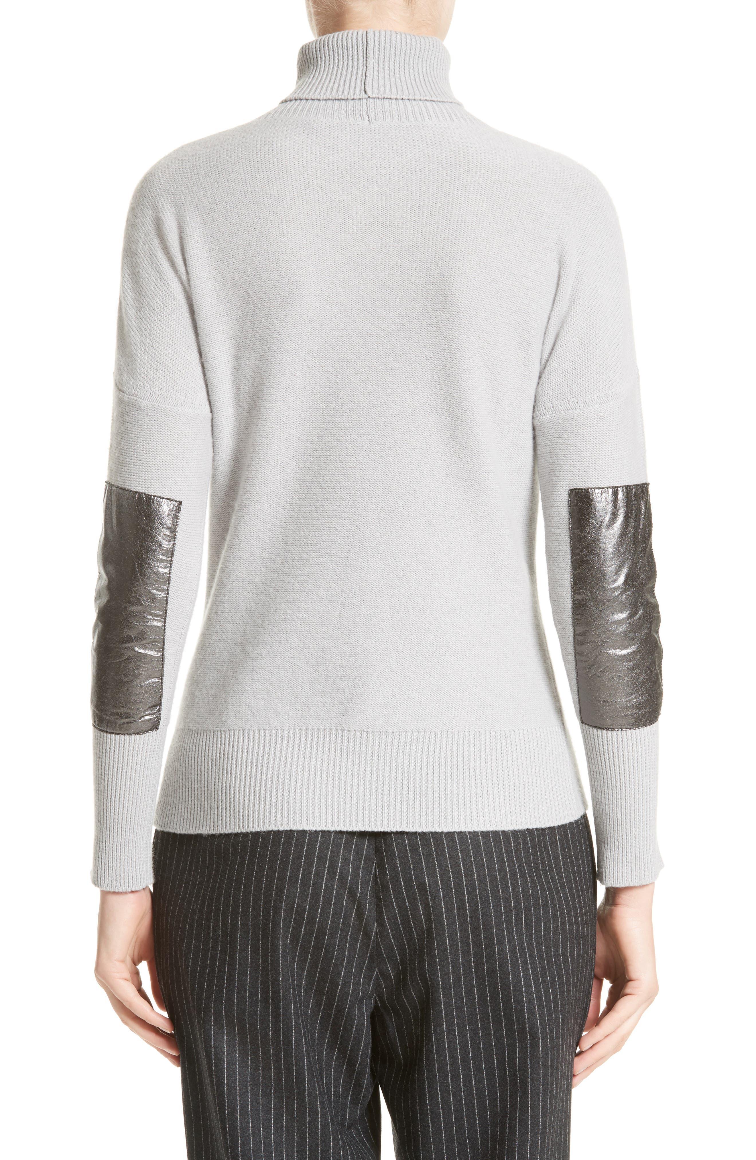 Wool, Silk & Cashmere Knit Turtleneck,                             Alternate thumbnail 2, color,                             050