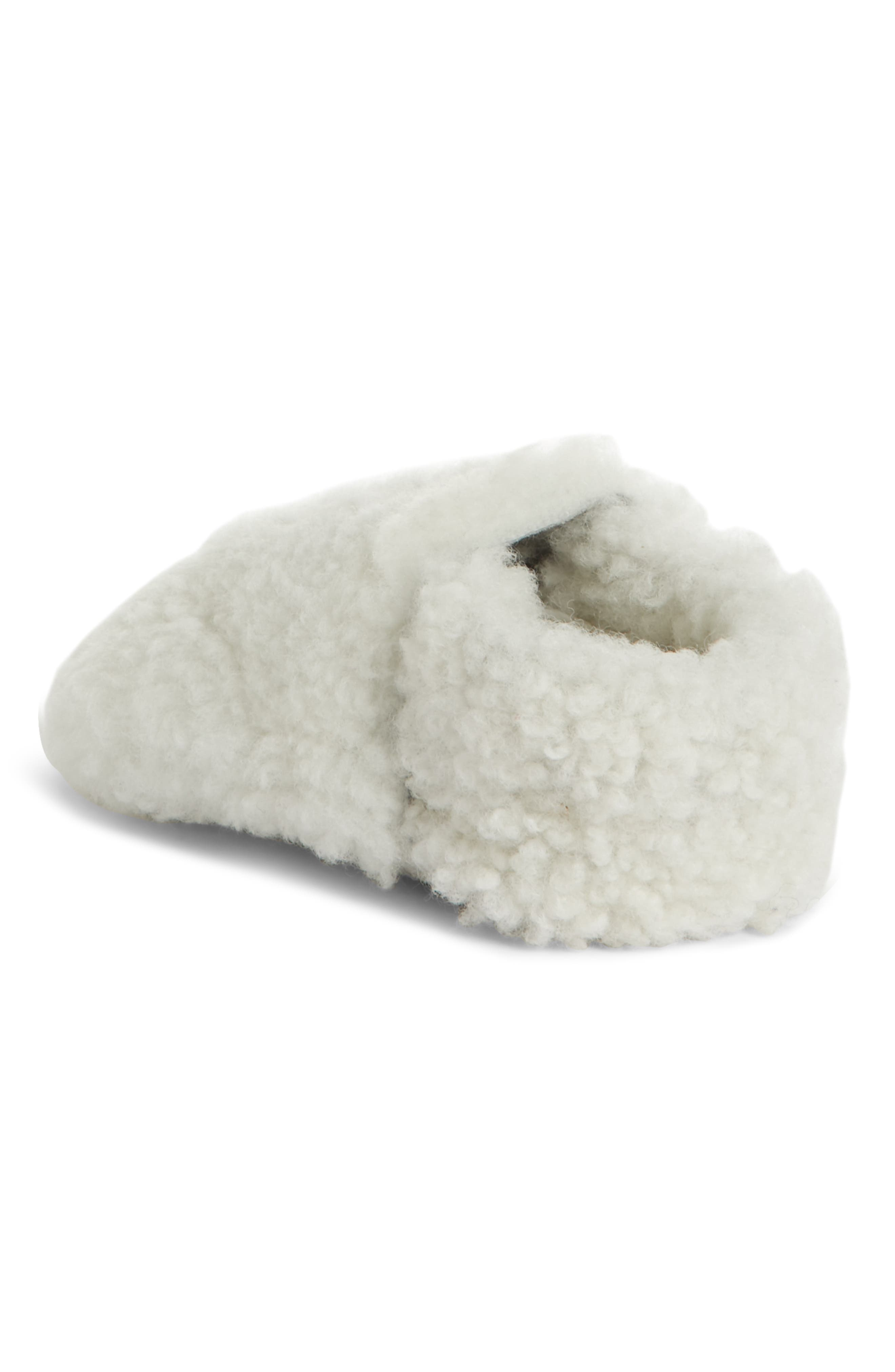 Genuine Shearling Bootie,                             Alternate thumbnail 2, color,                             IVORY