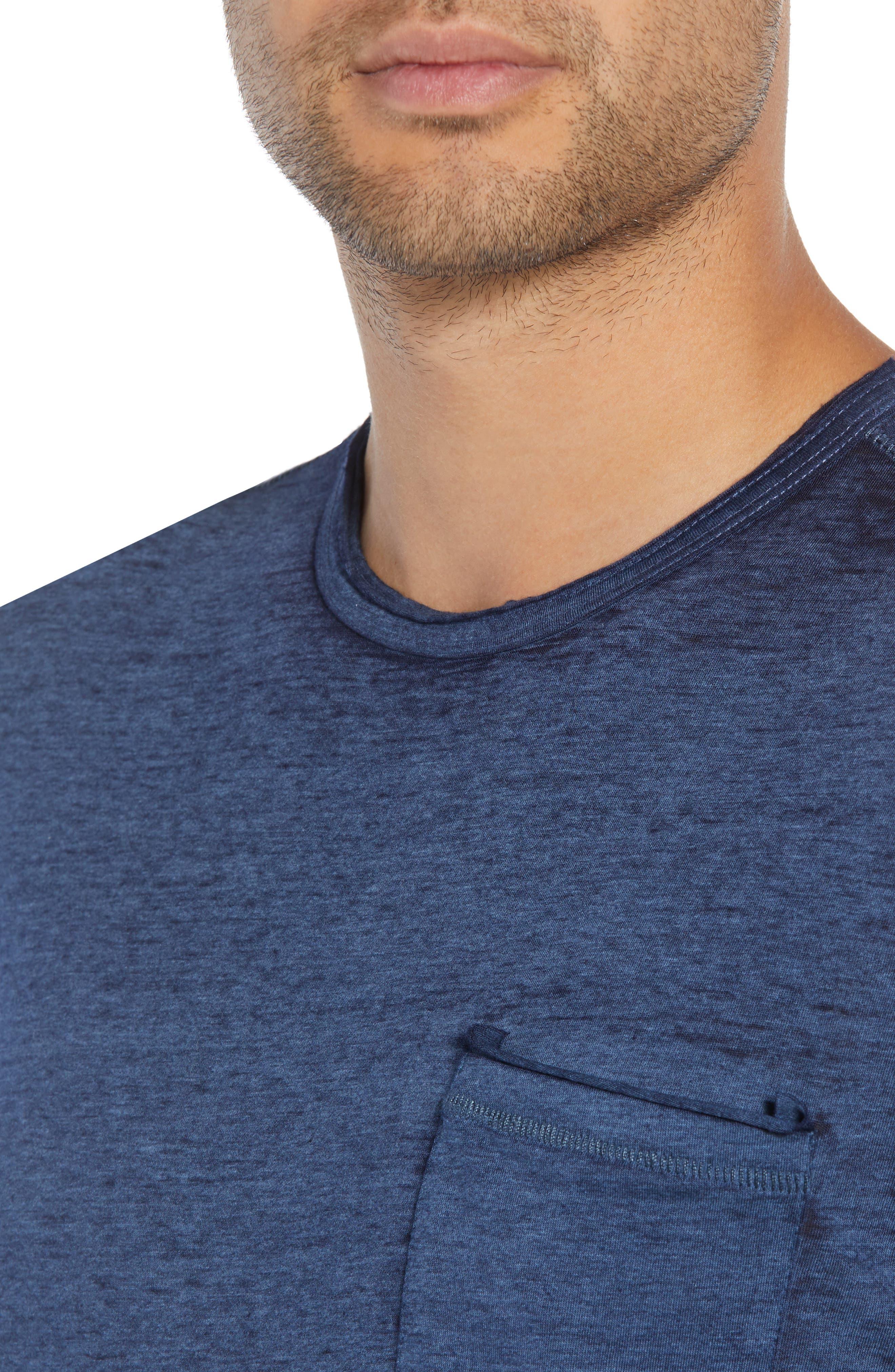 Burnout Long Sleeve T-Shirt,                             Alternate thumbnail 4, color,                             410