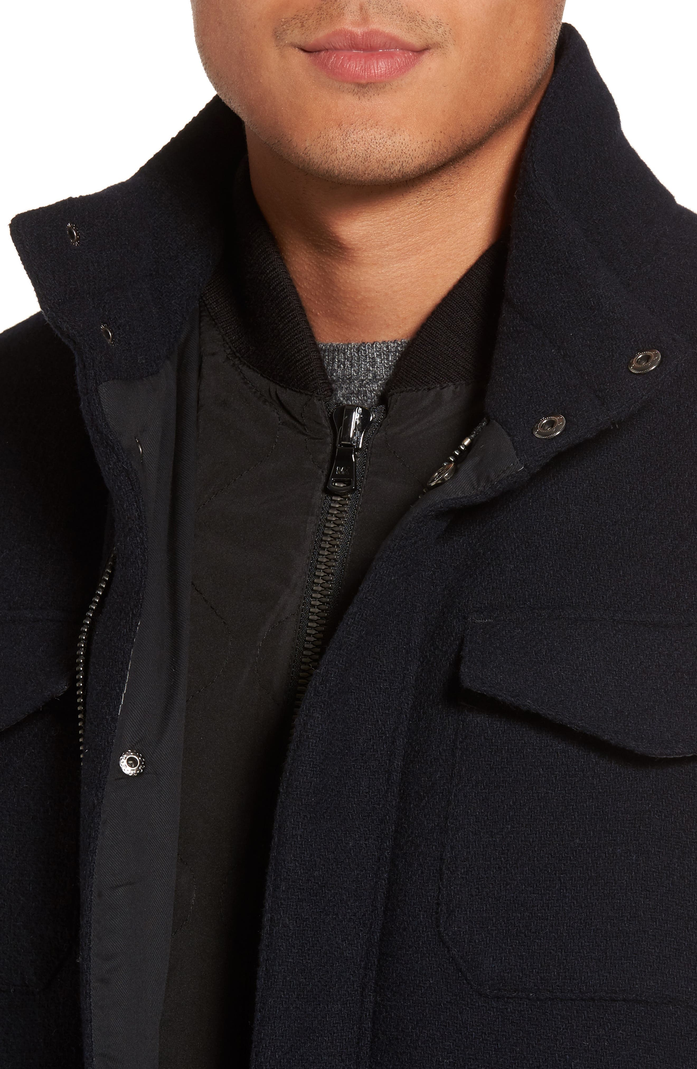 Regular Fit Double Layer Field Jacket,                             Alternate thumbnail 16, color,
