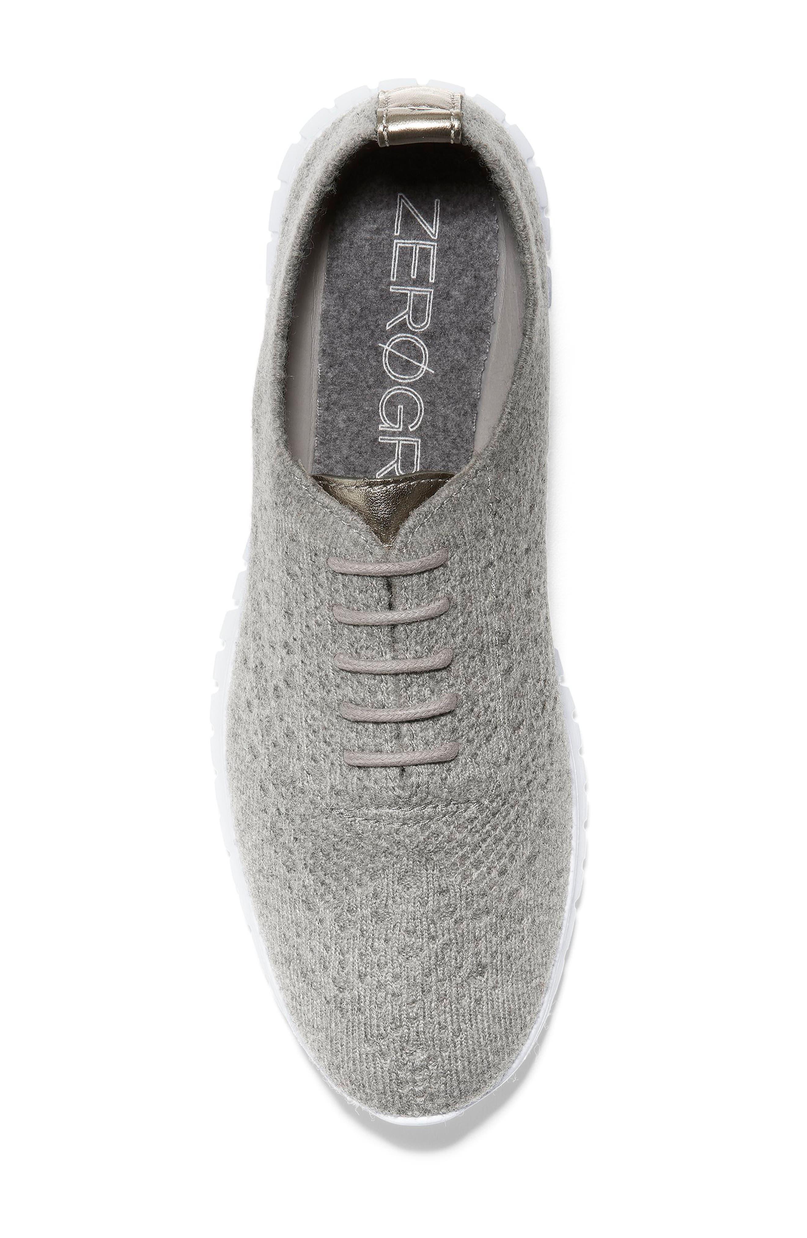 ZeroGrand Stitchlite Wool Flat,                             Alternate thumbnail 5, color,                             IRONSTONE FABRIC