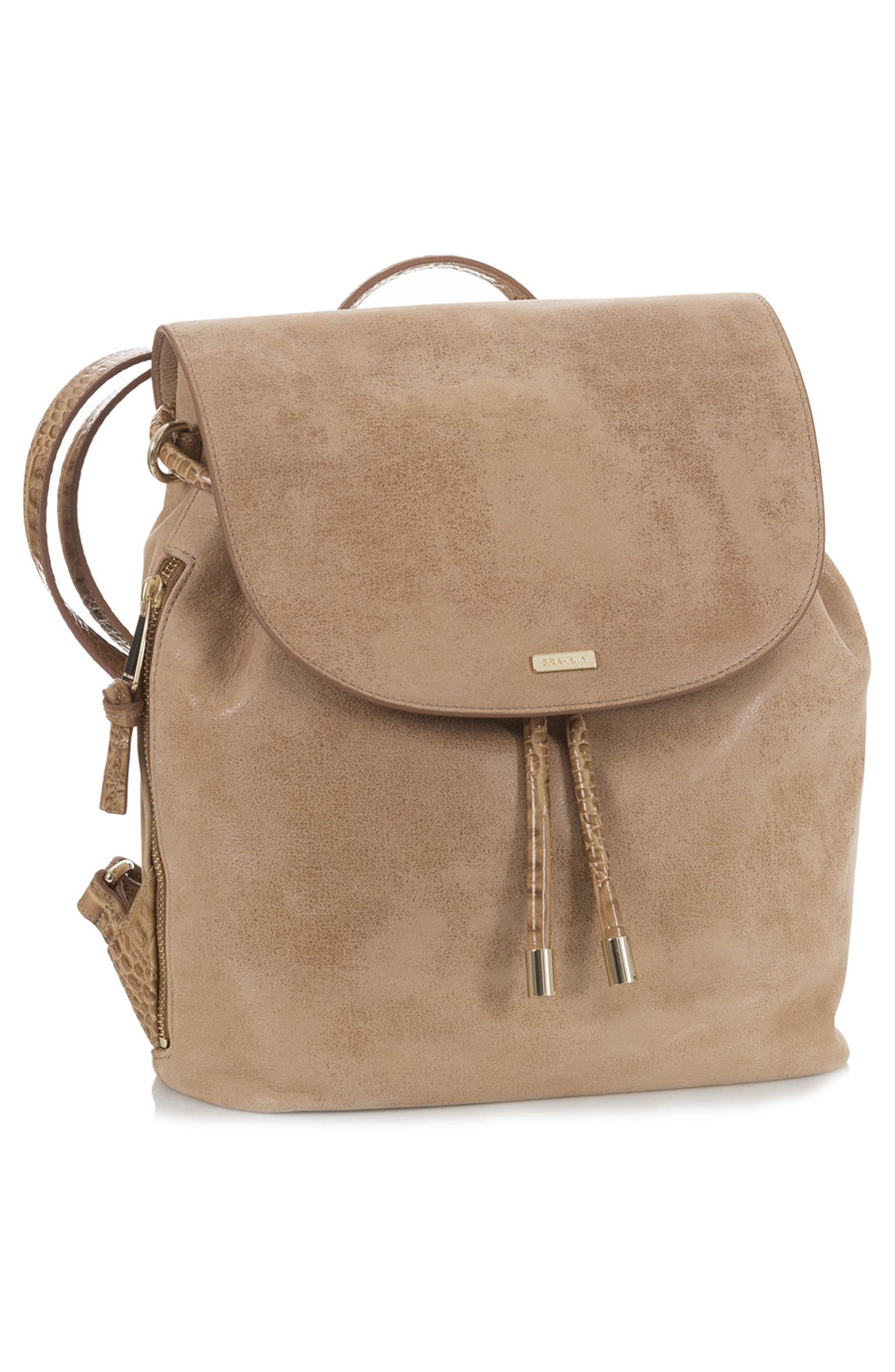 Josie Leather Backpack,                             Alternate thumbnail 4, color,                             200