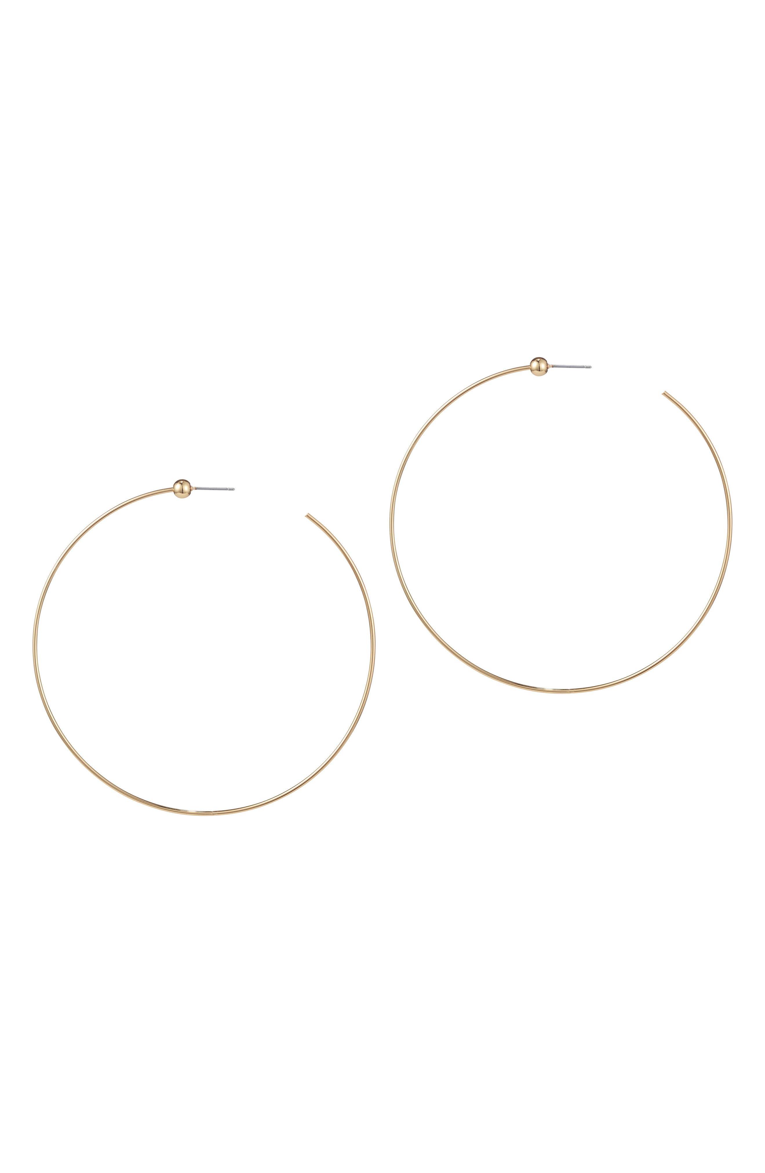 Medium Hoop Earrings,                             Main thumbnail 2, color,