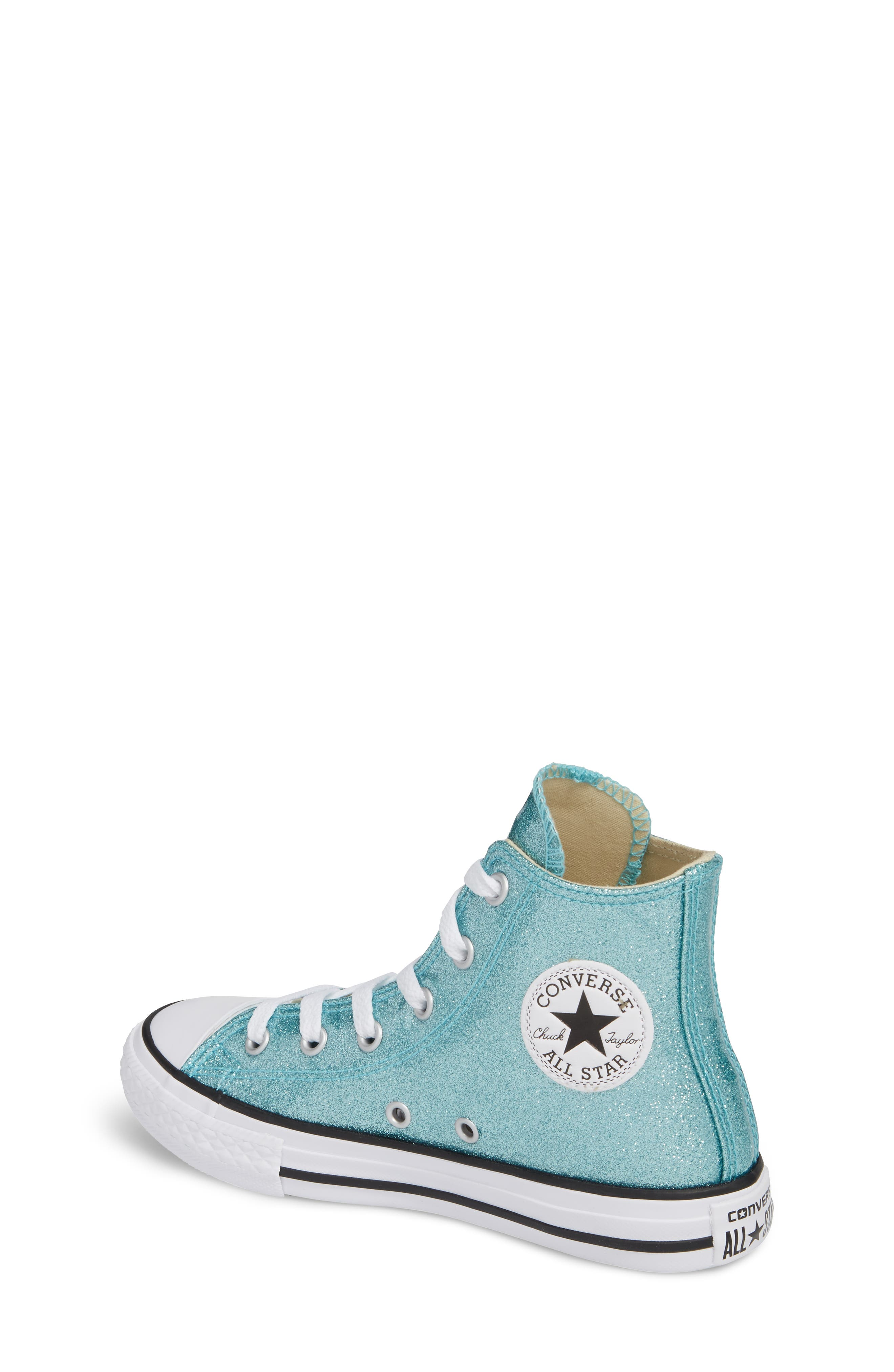 All Star<sup>®</sup> Glitter High Top Sneaker,                             Alternate thumbnail 2, color,                             400