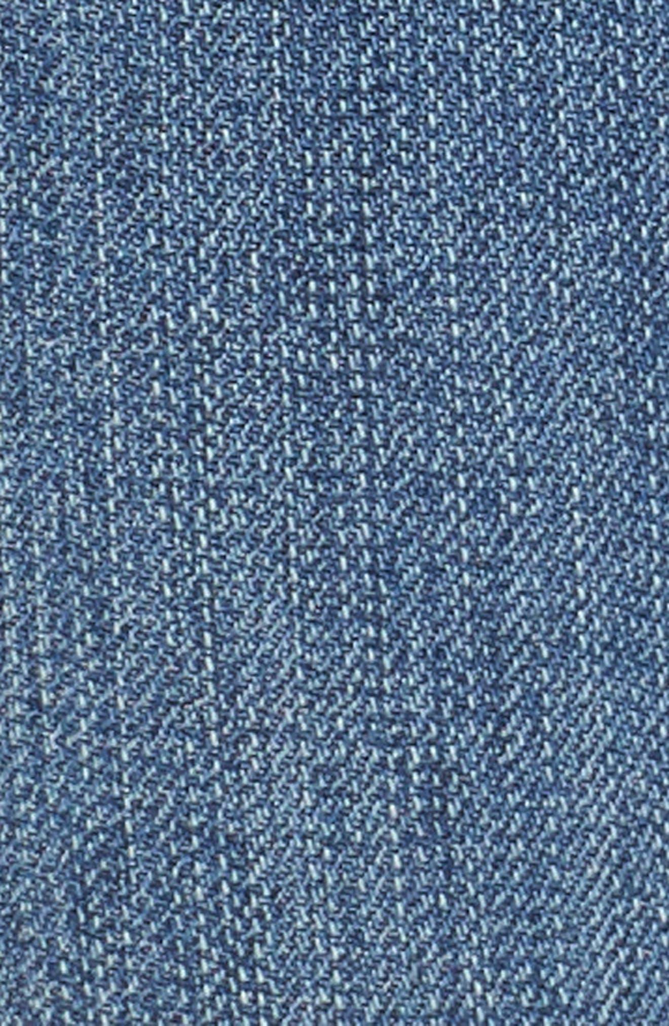 Ripped Step Hem Skinny Jeans,                             Alternate thumbnail 6, color,