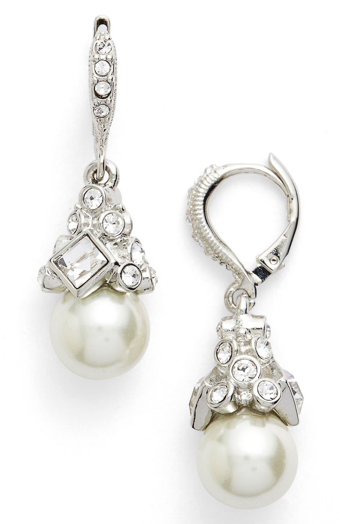 Imitation Pearl Drop Earrings,                             Main thumbnail 1, color,                             040
