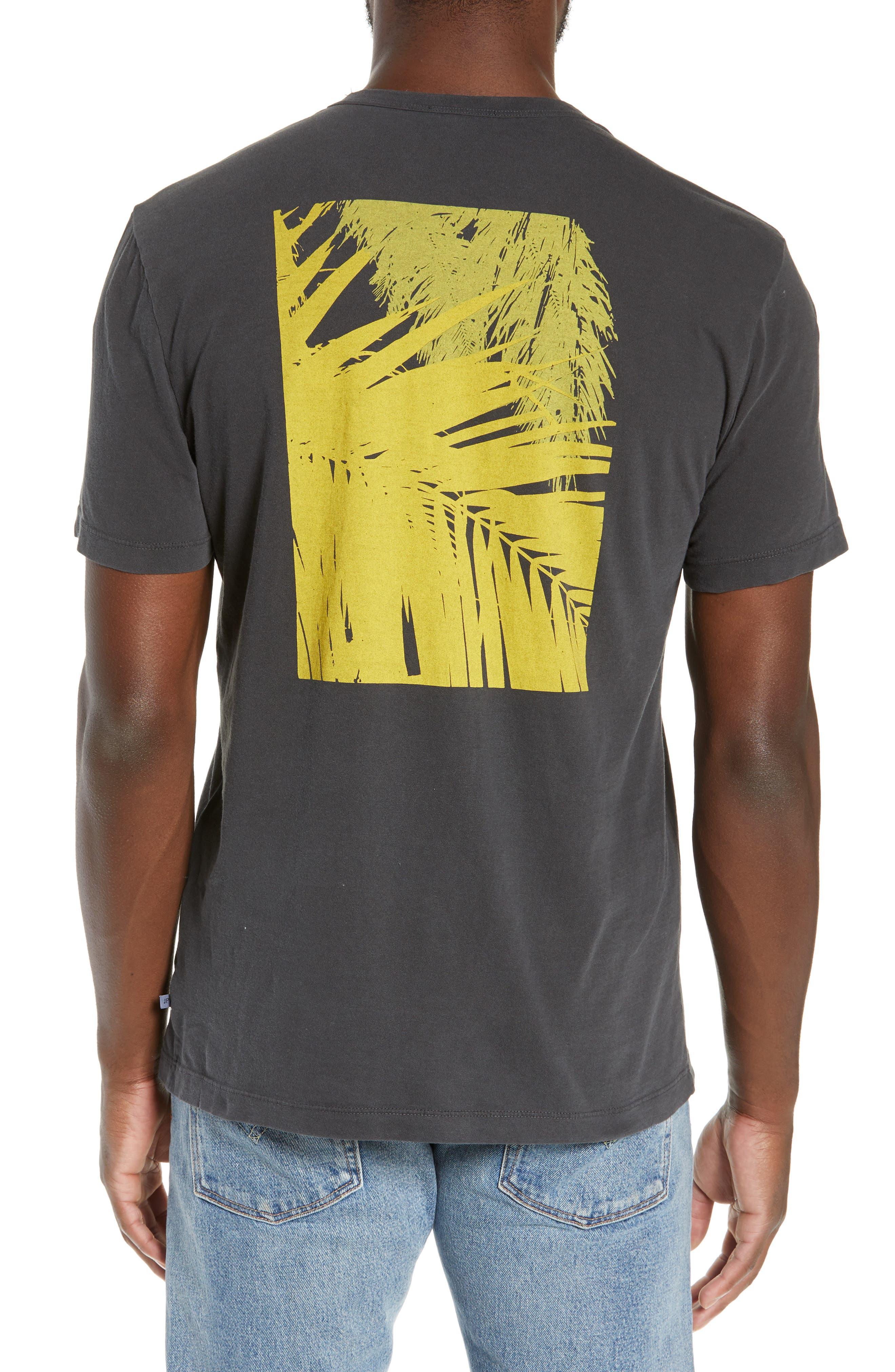 Regular Fit Tonal Palms Crewneck Shirt,                             Alternate thumbnail 2, color,                             CARBON PIGMENT