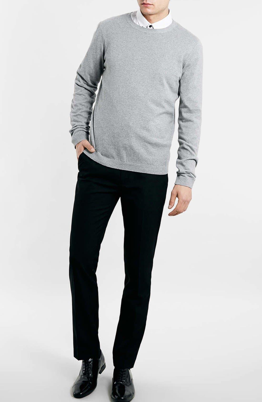 Black Skinny Fit Trousers,                             Alternate thumbnail 2, color,                             001