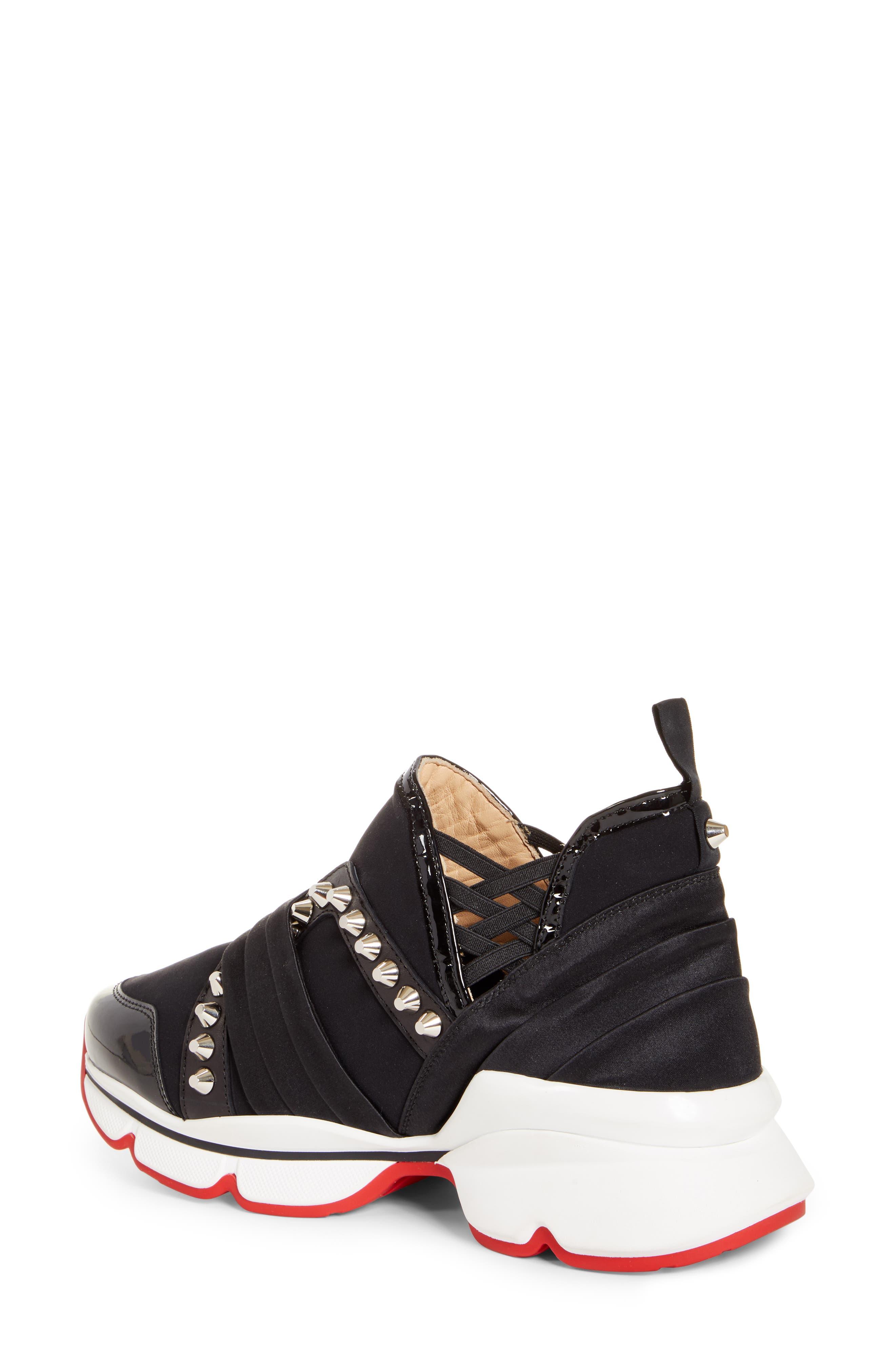 CHRISTIAN LOUBOUTIN,                             Run Slip-On Sneaker,                             Alternate thumbnail 2, color,                             BLACK