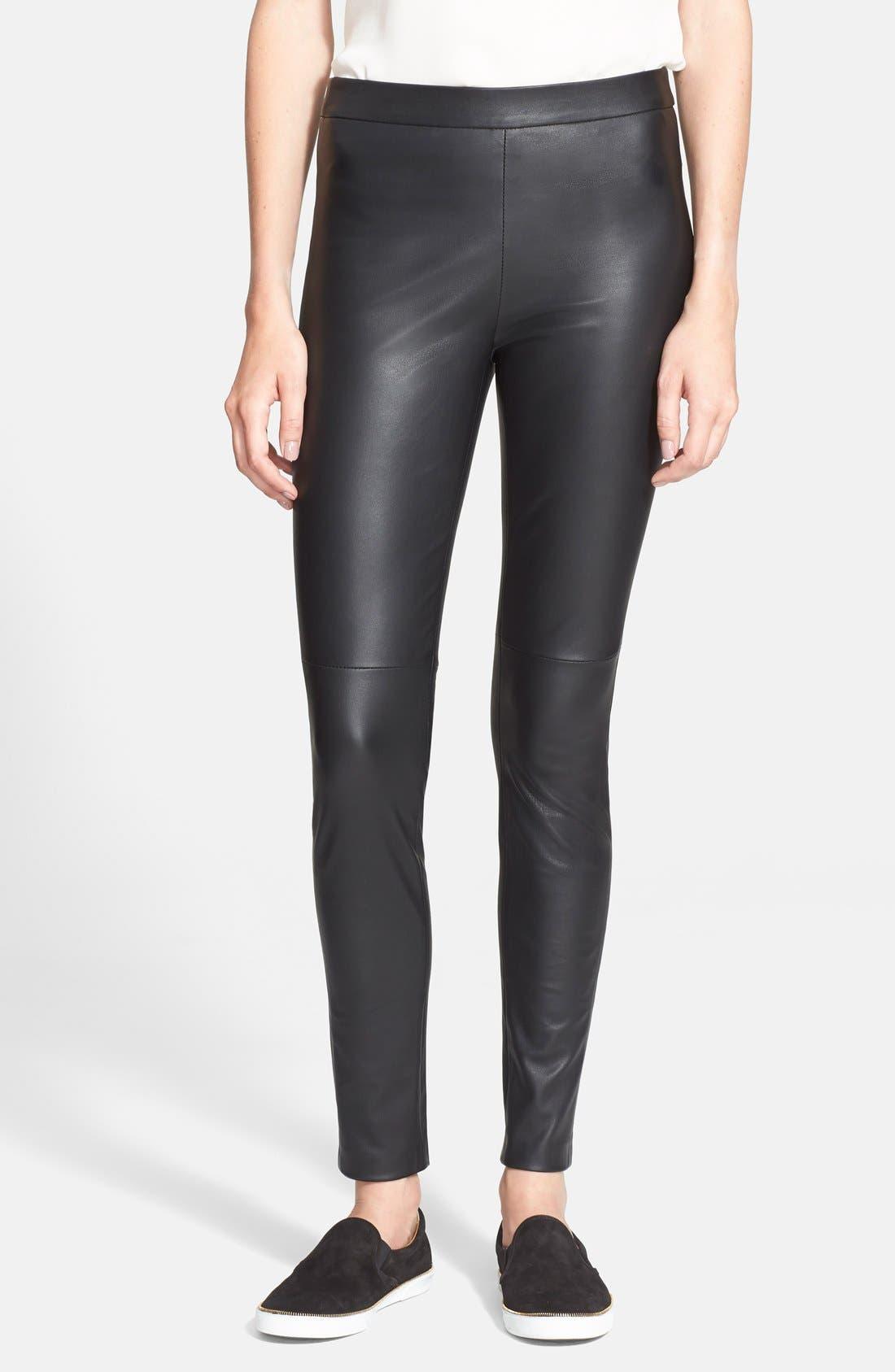 'Abdelle' Leather Leggings, Main, color, 001