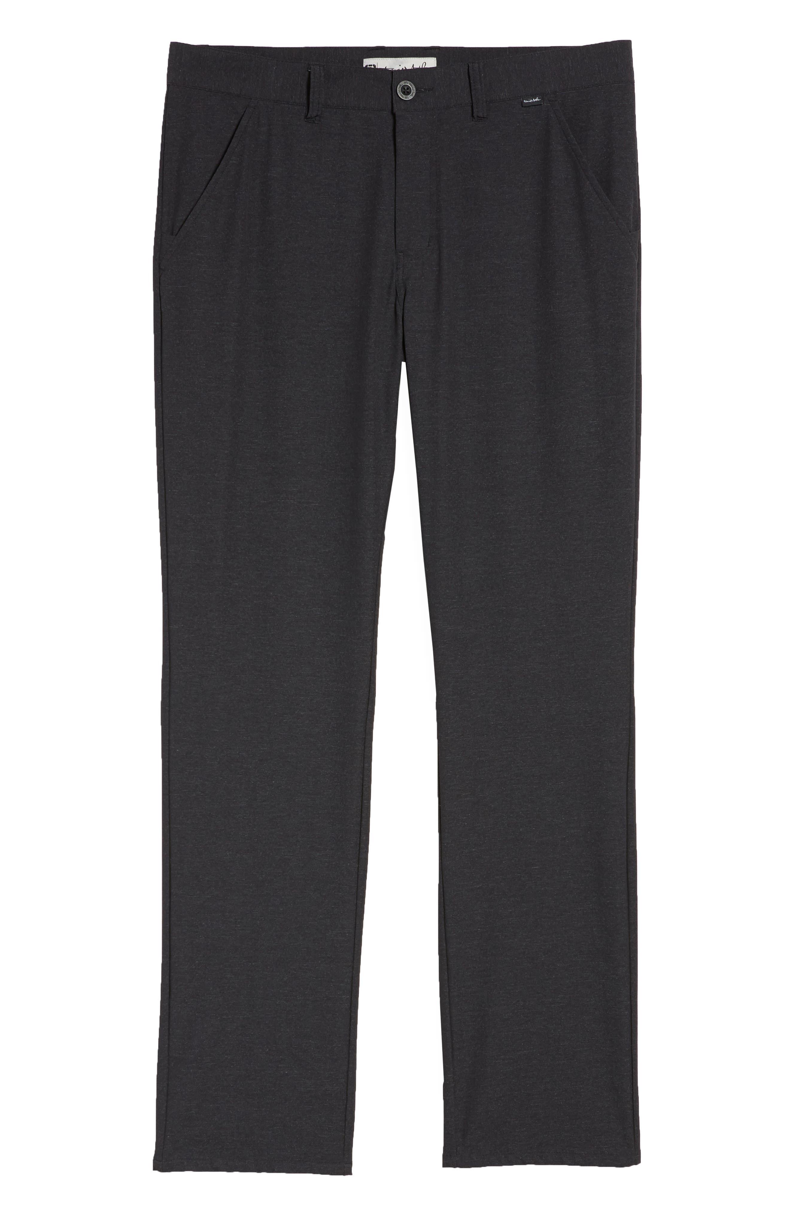 Mercurio Regular Fit Four-Way Stretch Pants,                             Alternate thumbnail 6, color,                             HEATHER BLACK