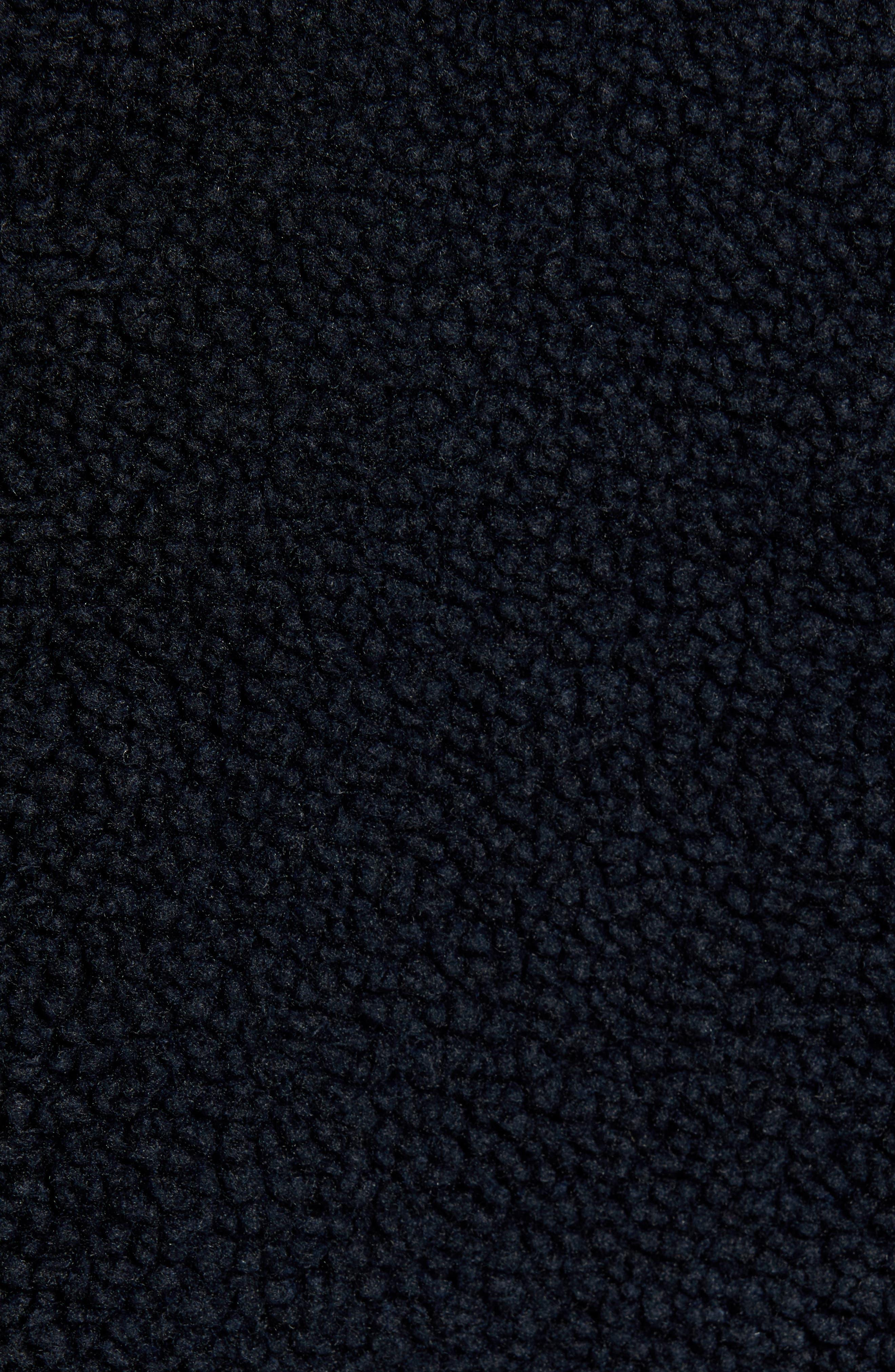 THEORY,                             Polar Fleece Reversible Zip Hoodie,                             Alternate thumbnail 7, color,                             ECLIPSE/ ASHPALT MELANGE