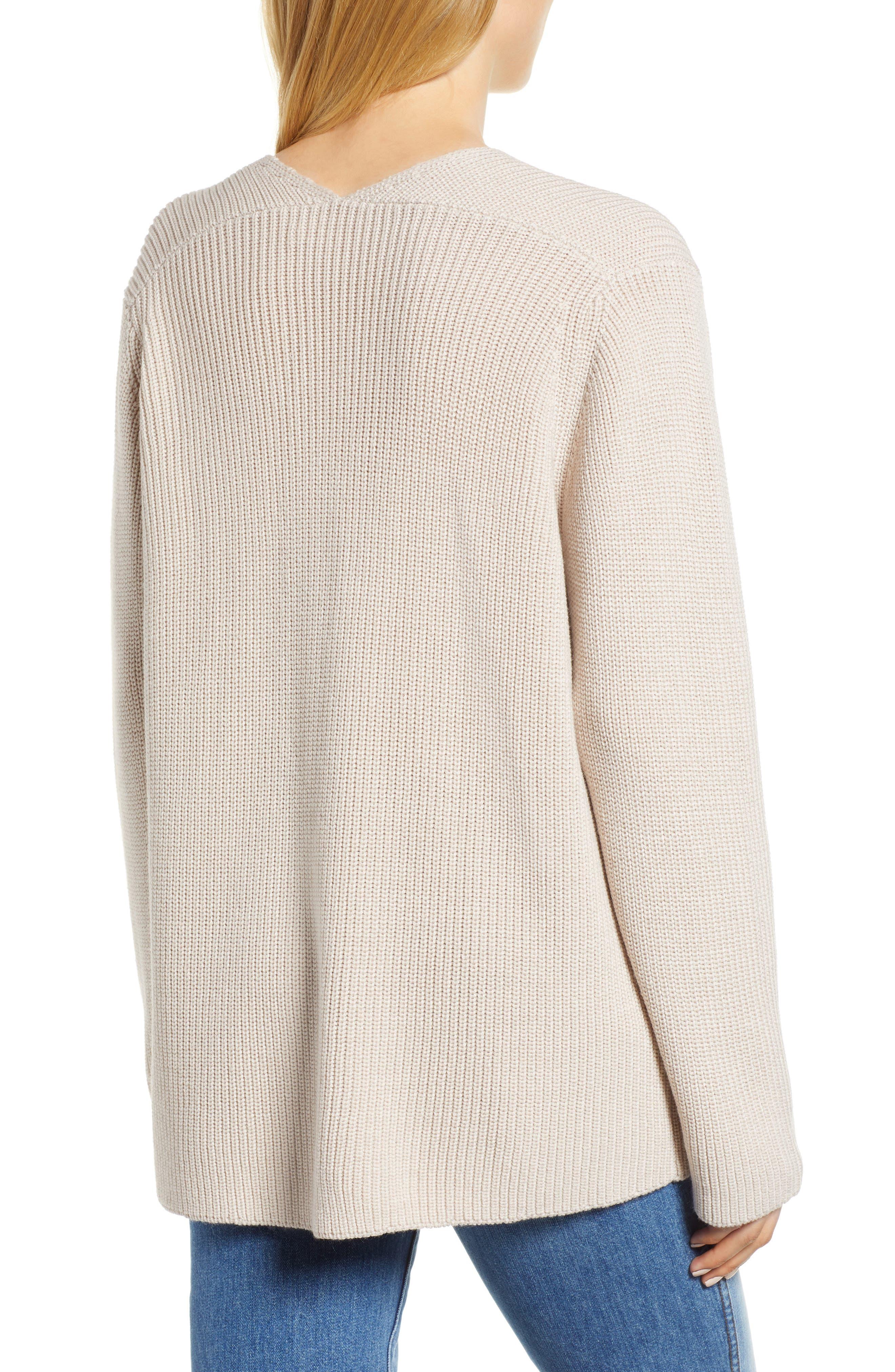 V-Neck Sweater,                             Alternate thumbnail 2, color,                             NUDE