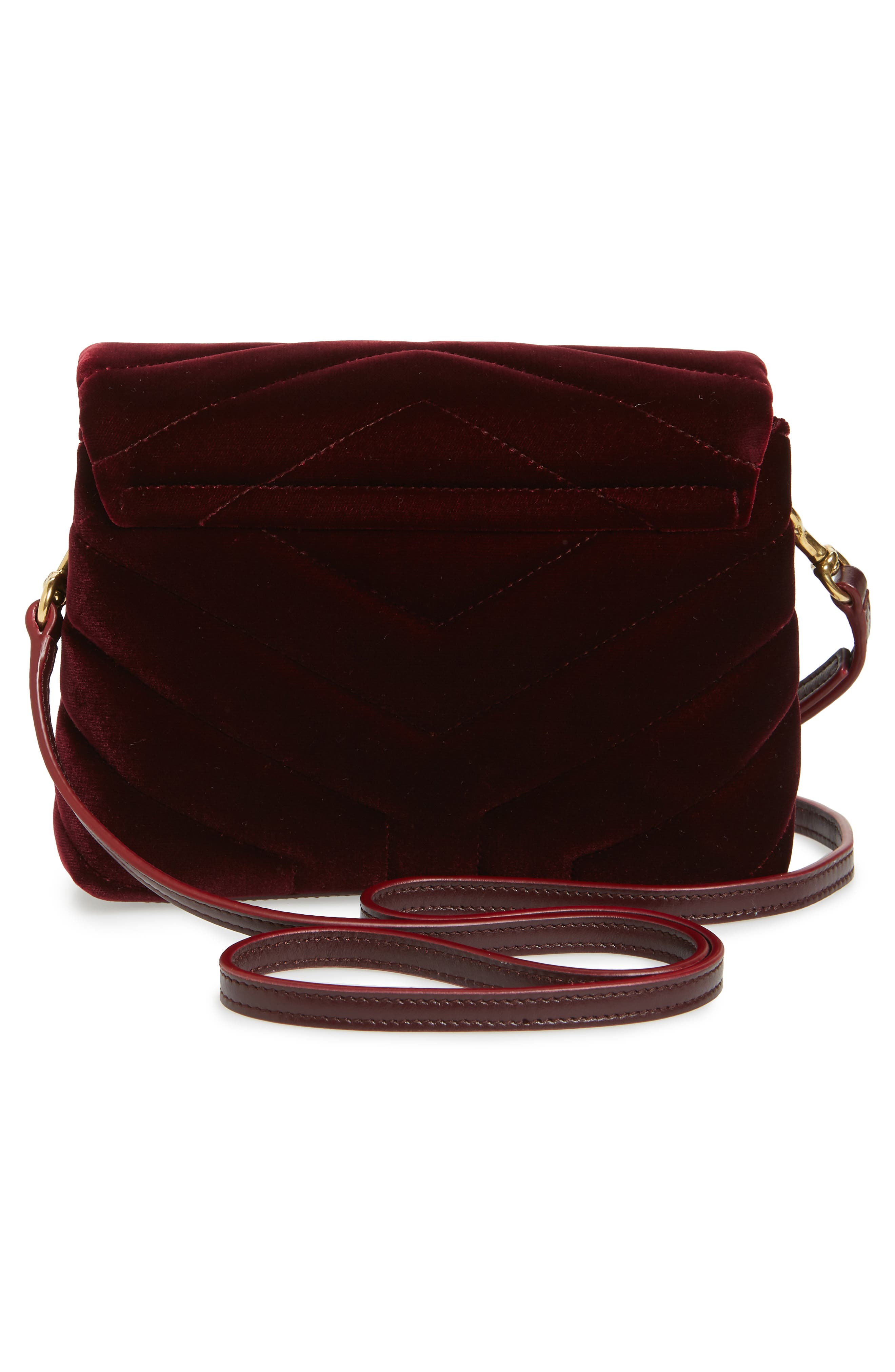 Toy Loulou Velvet Crossbody Bag,                             Alternate thumbnail 3, color,                             930