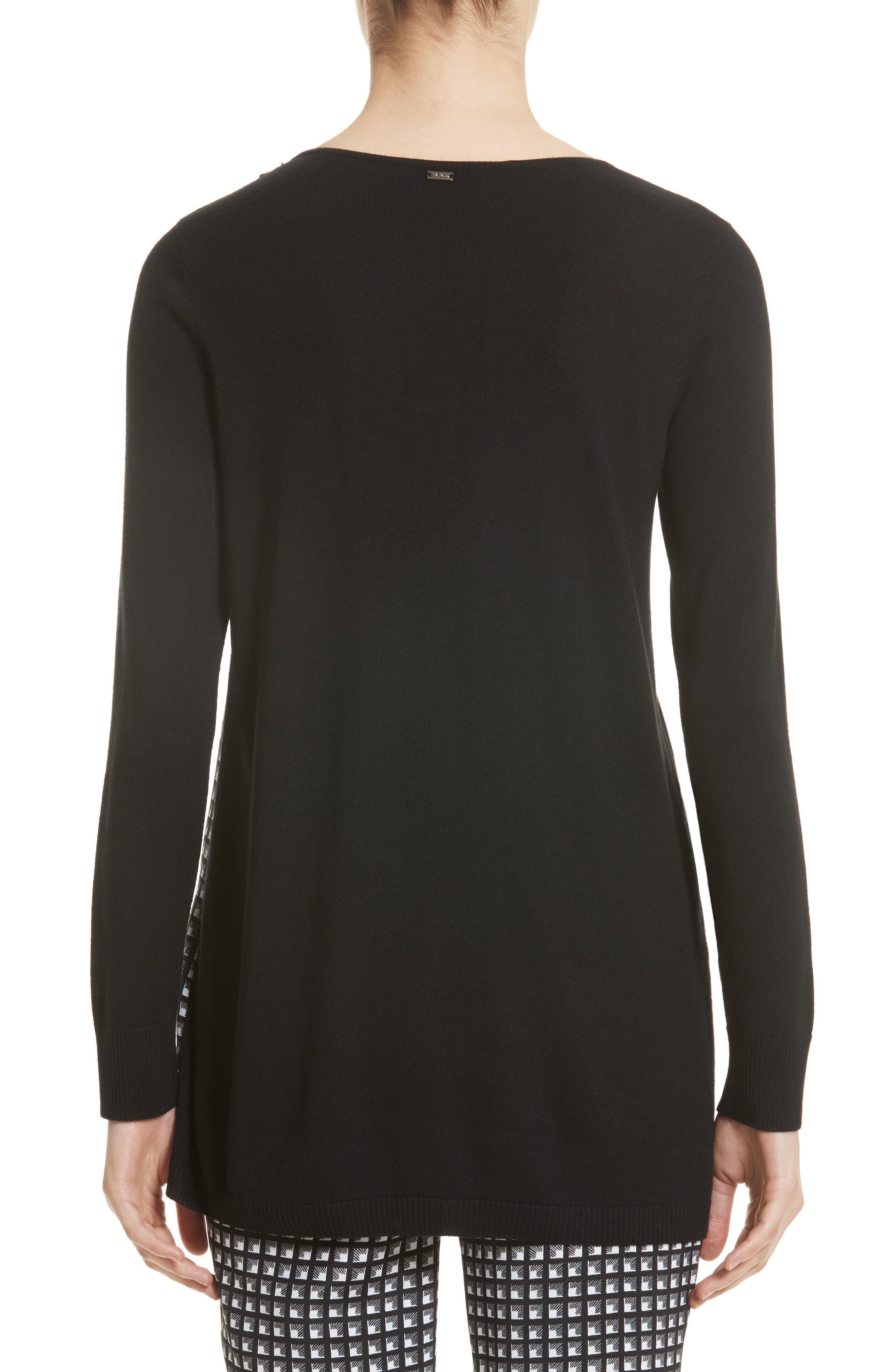 Asymmetrical Jersey Knit Sweater,                             Alternate thumbnail 2, color,                             001