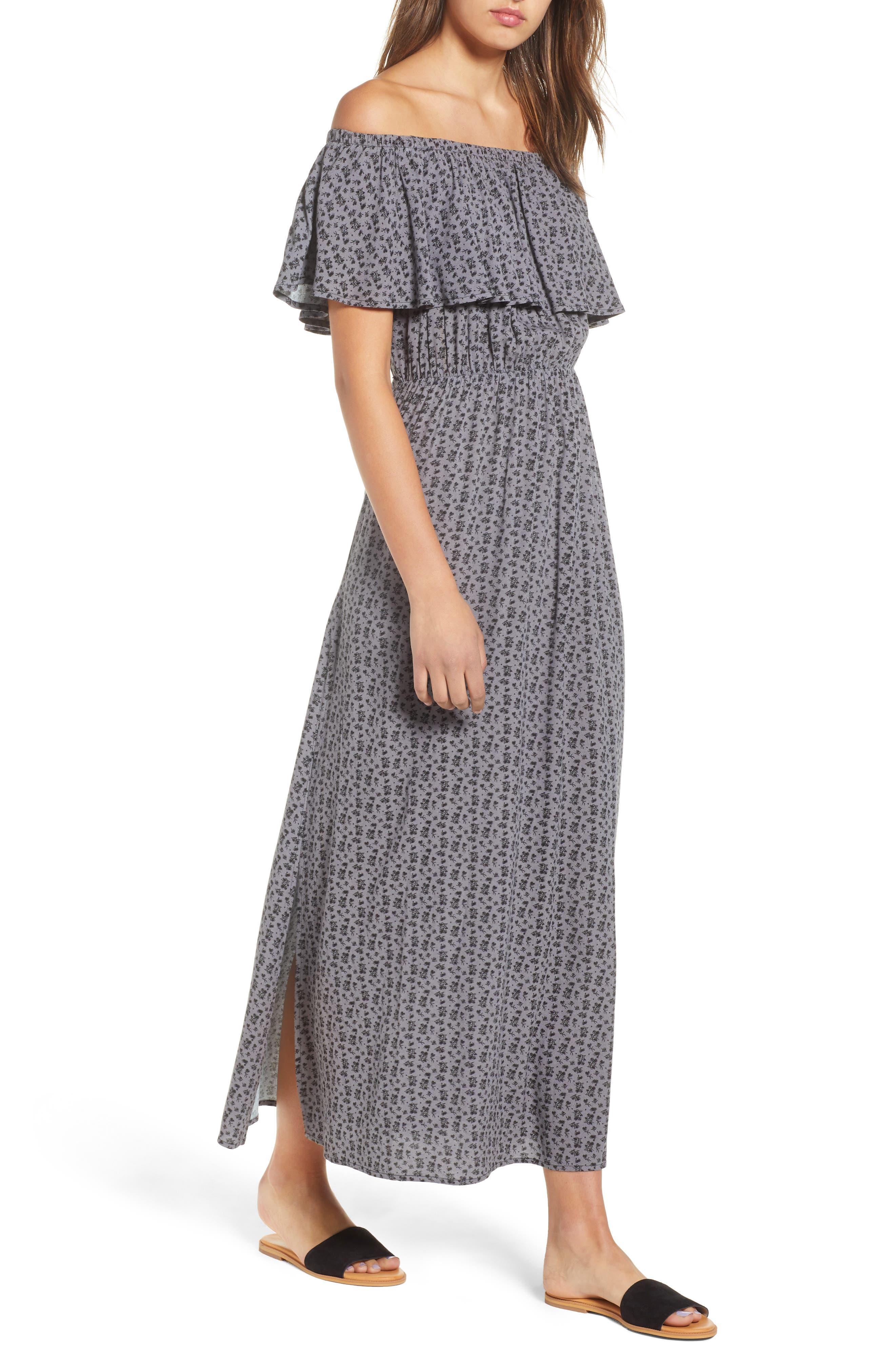 LIRA CLOTHING Marissa Floral Print Off the Shoulder Dress, Main, color, 250